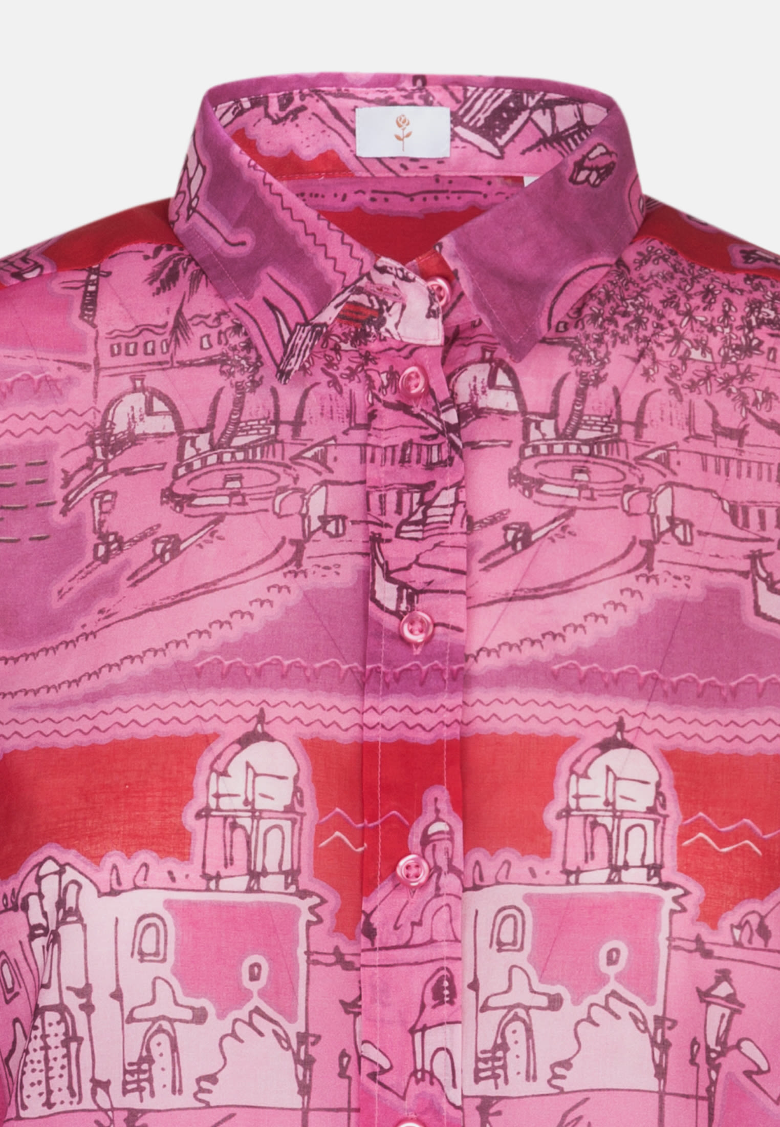 Voile Shirt Blouse made of 100% Cotton in rot-pink |  Seidensticker Onlineshop