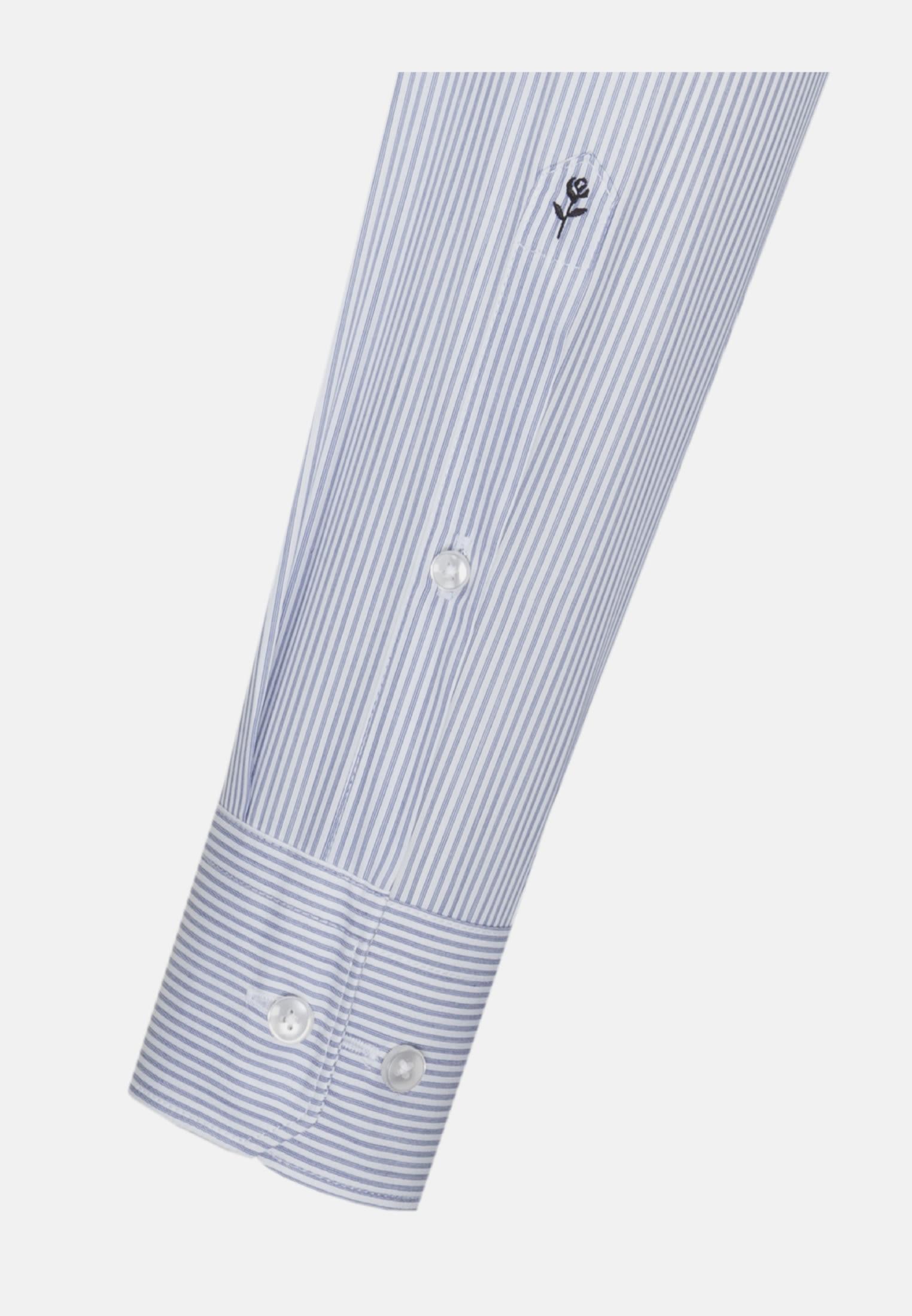 Easy-iron Poplin Business Shirt in Slim with Kent-Collar in Light blue    Seidensticker Onlineshop