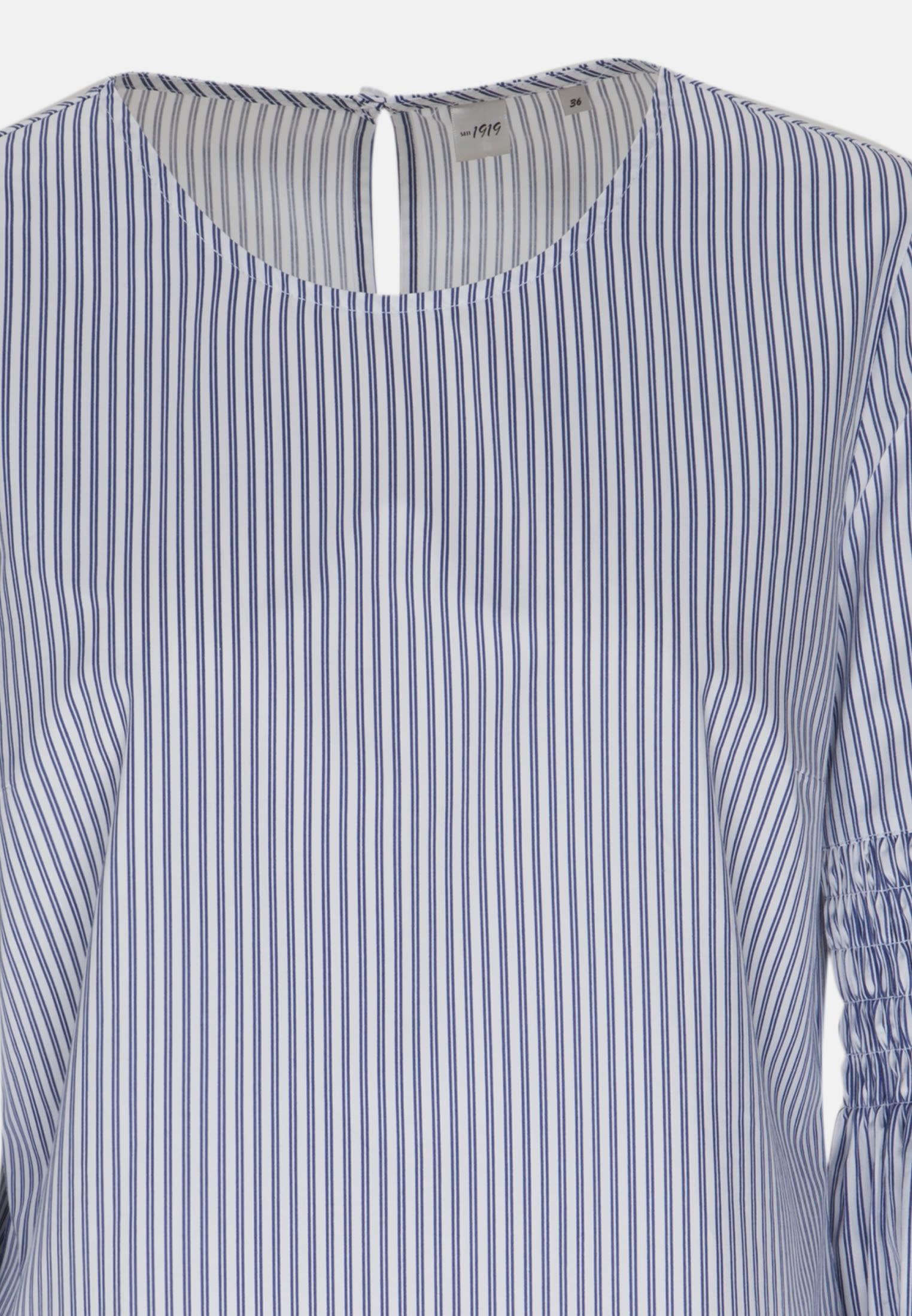 3/4 sleeve Satin Long Blouse made of 100% Cotton in Dark blue |  Seidensticker Onlineshop