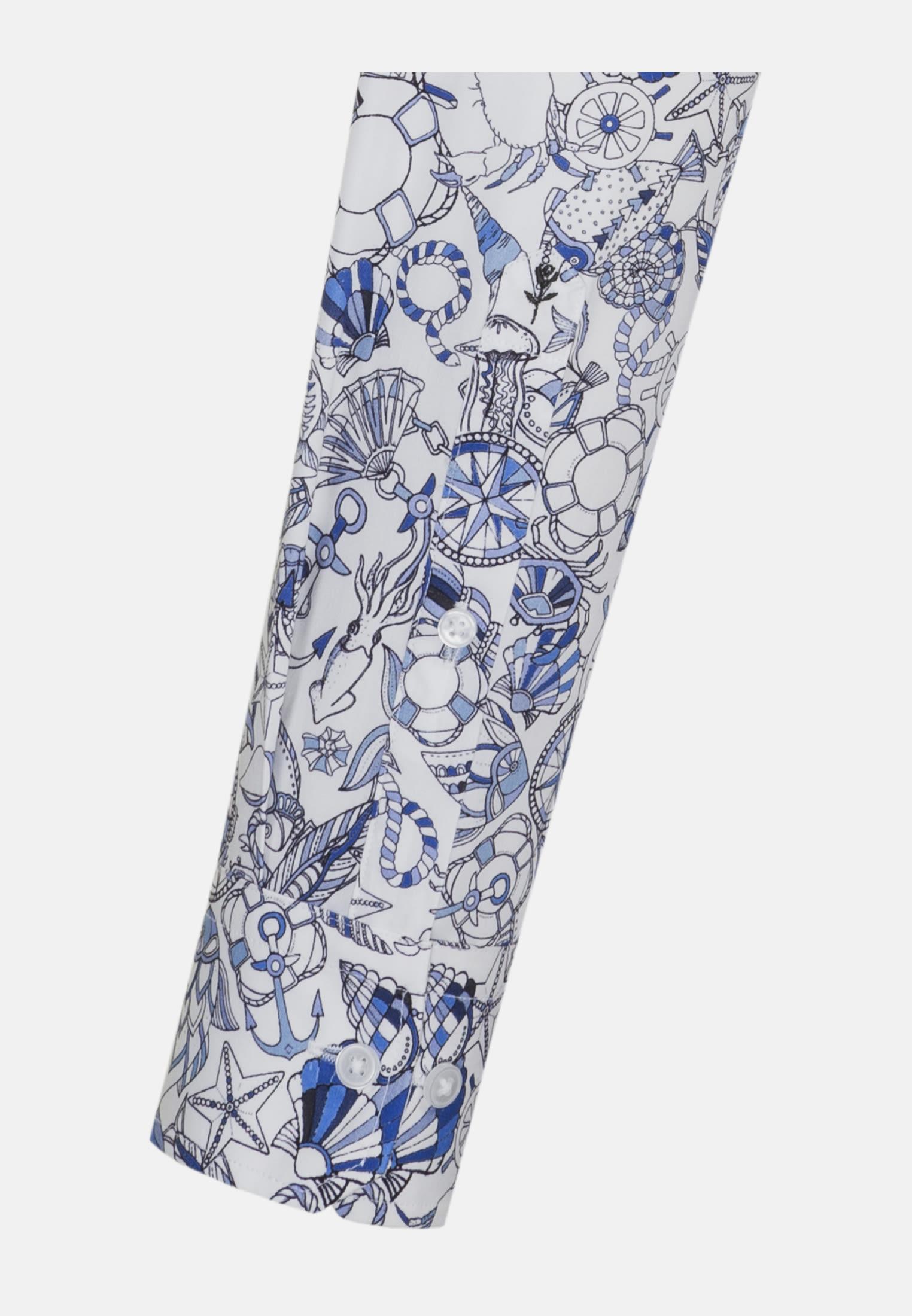 Bügelleichtes Popeline Business Hemd in Slim mit Button-Down-Kragen in Hellblau |  Seidensticker Onlineshop