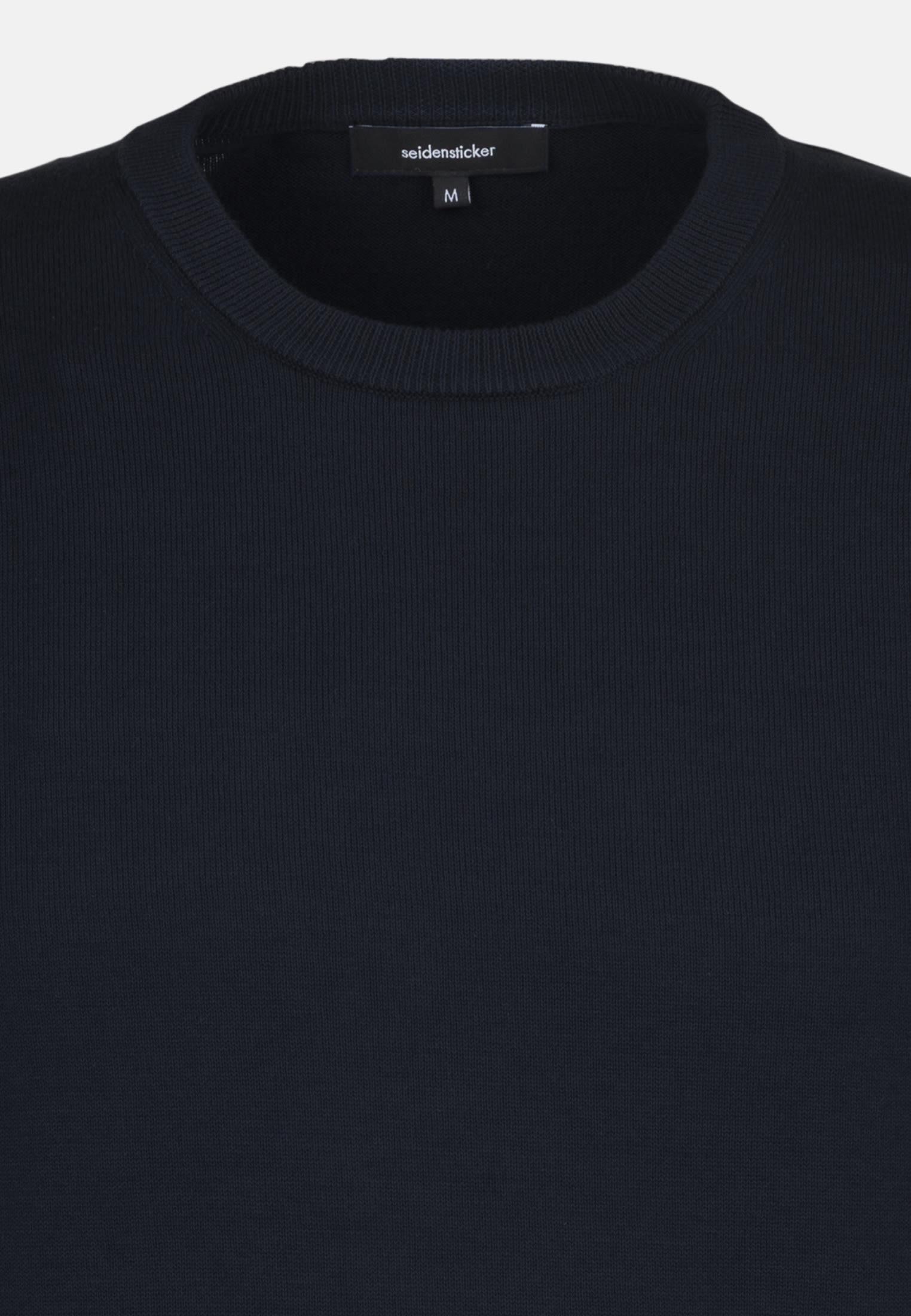 Crew Neck Pullover made of 70% Cotton 30% Leinen/Flachs in marine |  Seidensticker Onlineshop