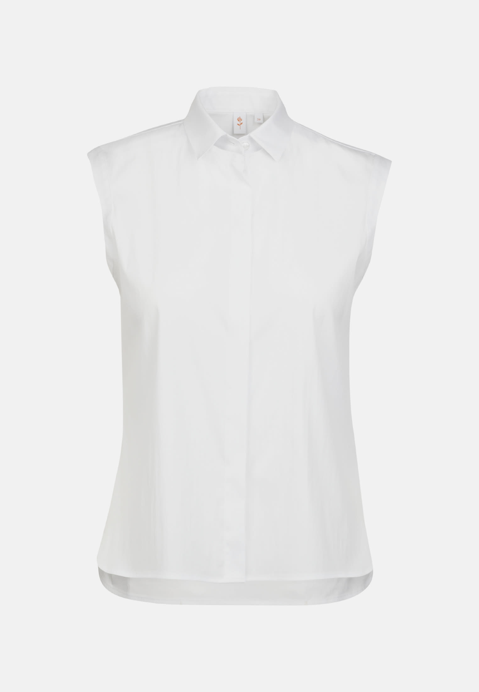 Ärmellose Popeline Hemdbluse aus in Weiß |  Seidensticker Onlineshop