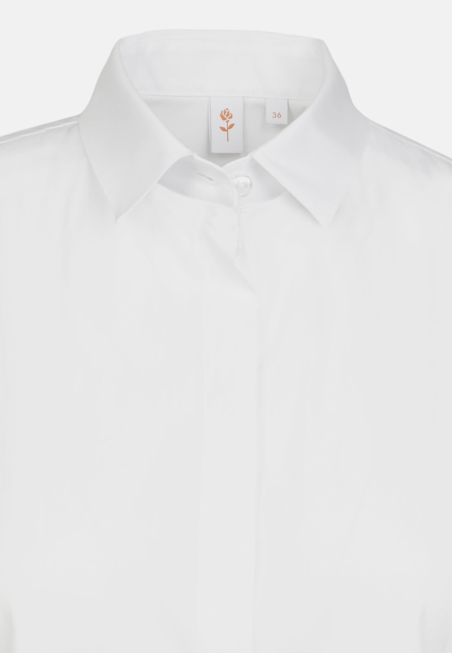 Sleeveless Poplin Shirt Blouse made of in White |  Seidensticker Onlineshop