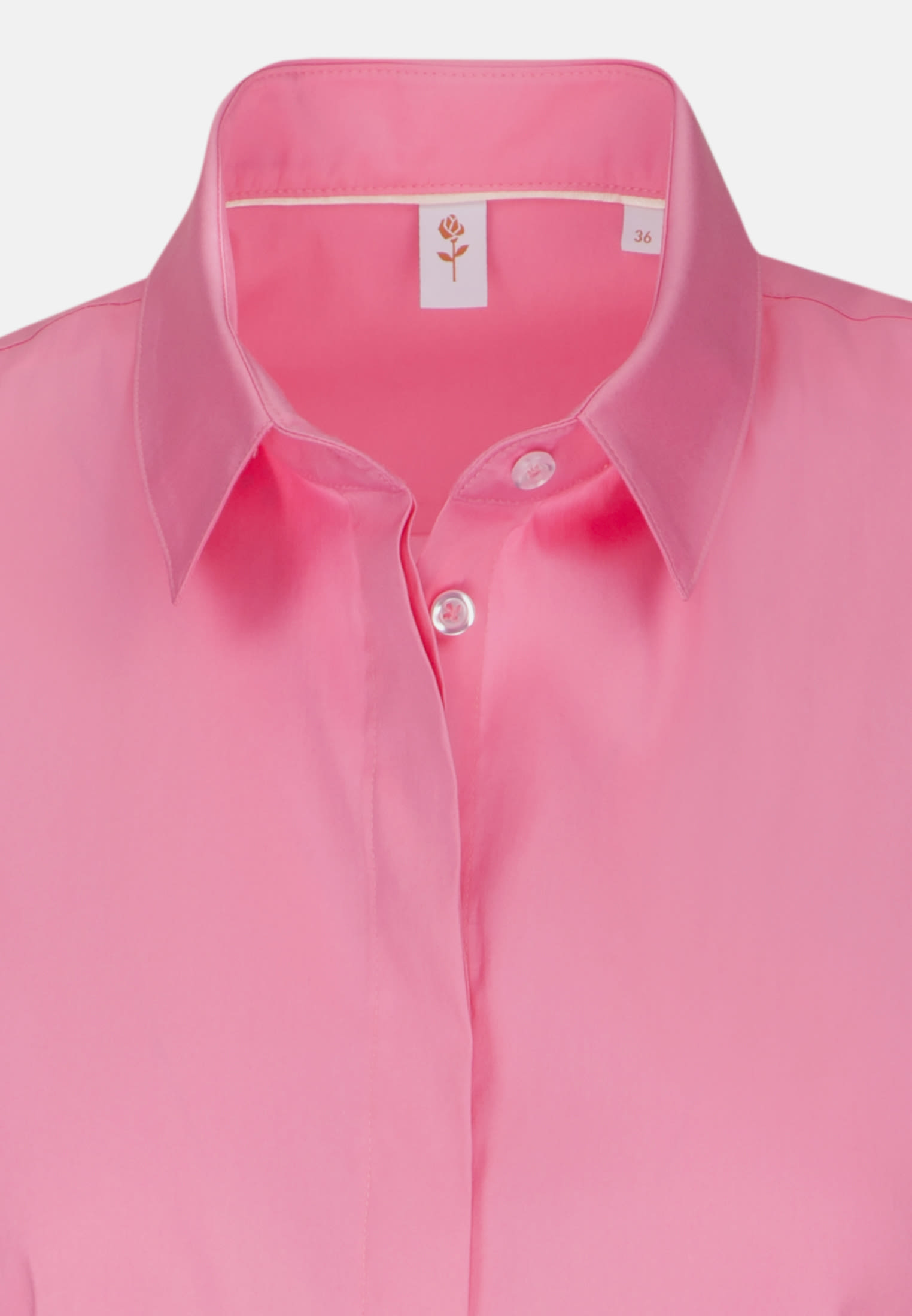 Ärmellose Popeline Hemdbluse aus 81% Baumwolle 16% Polyamid/Nylon 3% Elastan in Rosa/Pink |  Seidensticker Onlineshop