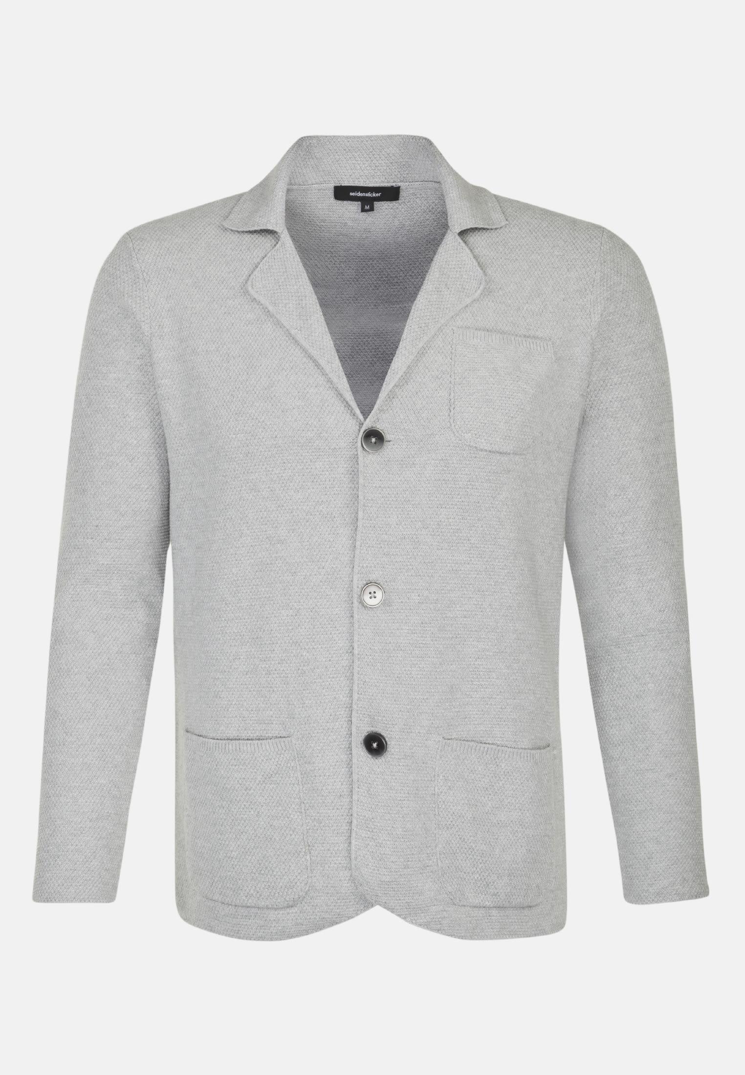 Kragen Sakko aus 100% Baumwolle in Grau |  Seidensticker Onlineshop