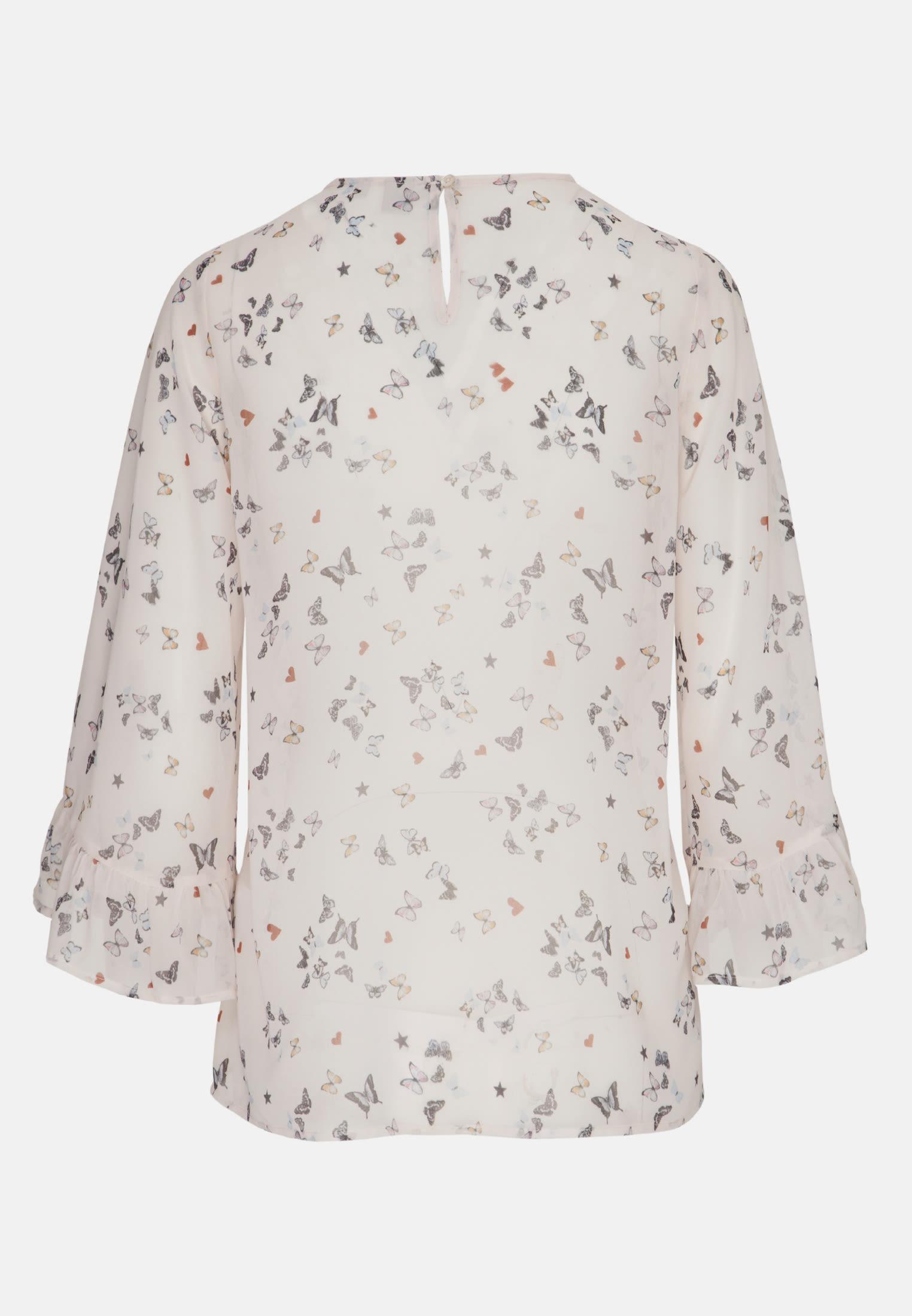 3/4 sleeve Chiffon Shirt Blouse made of in Beige |  Seidensticker Onlineshop