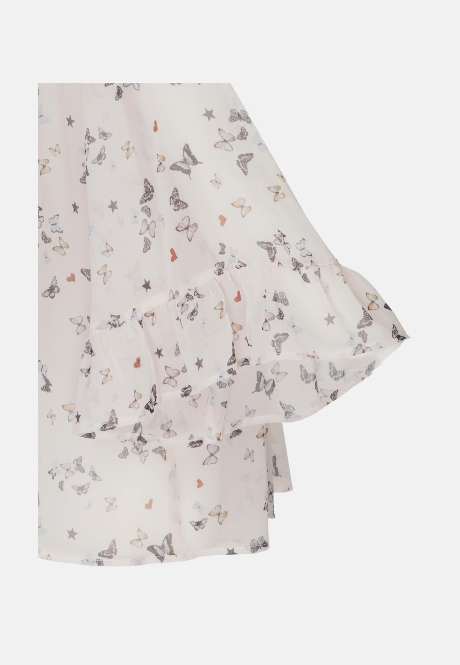 3/4 Arm Chiffon Shirtbluse aus in Beige |  Seidensticker Onlineshop