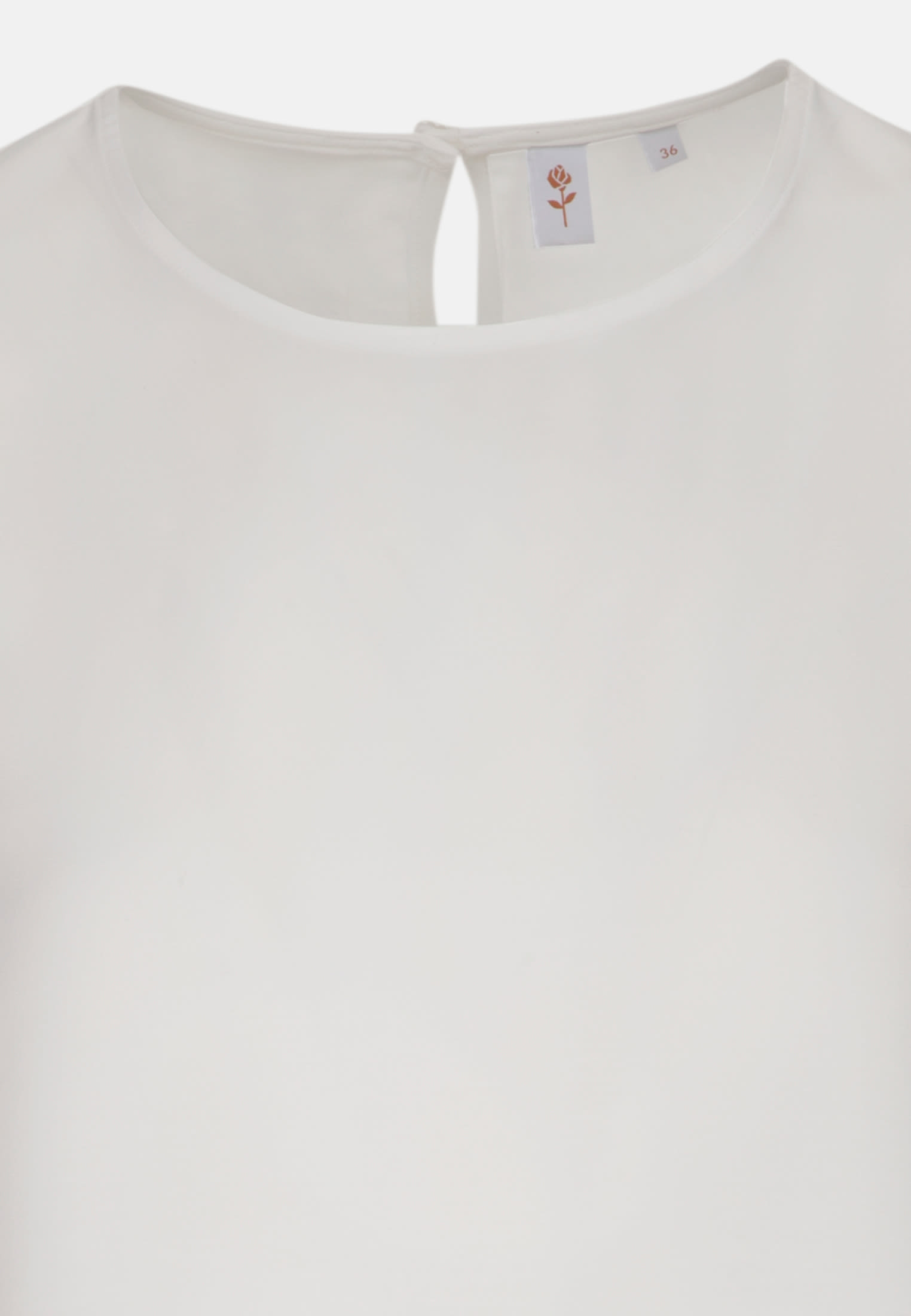 3/4 arm Voile Shirt Blouse aus 100% Viskose in White |  Seidensticker Onlineshop