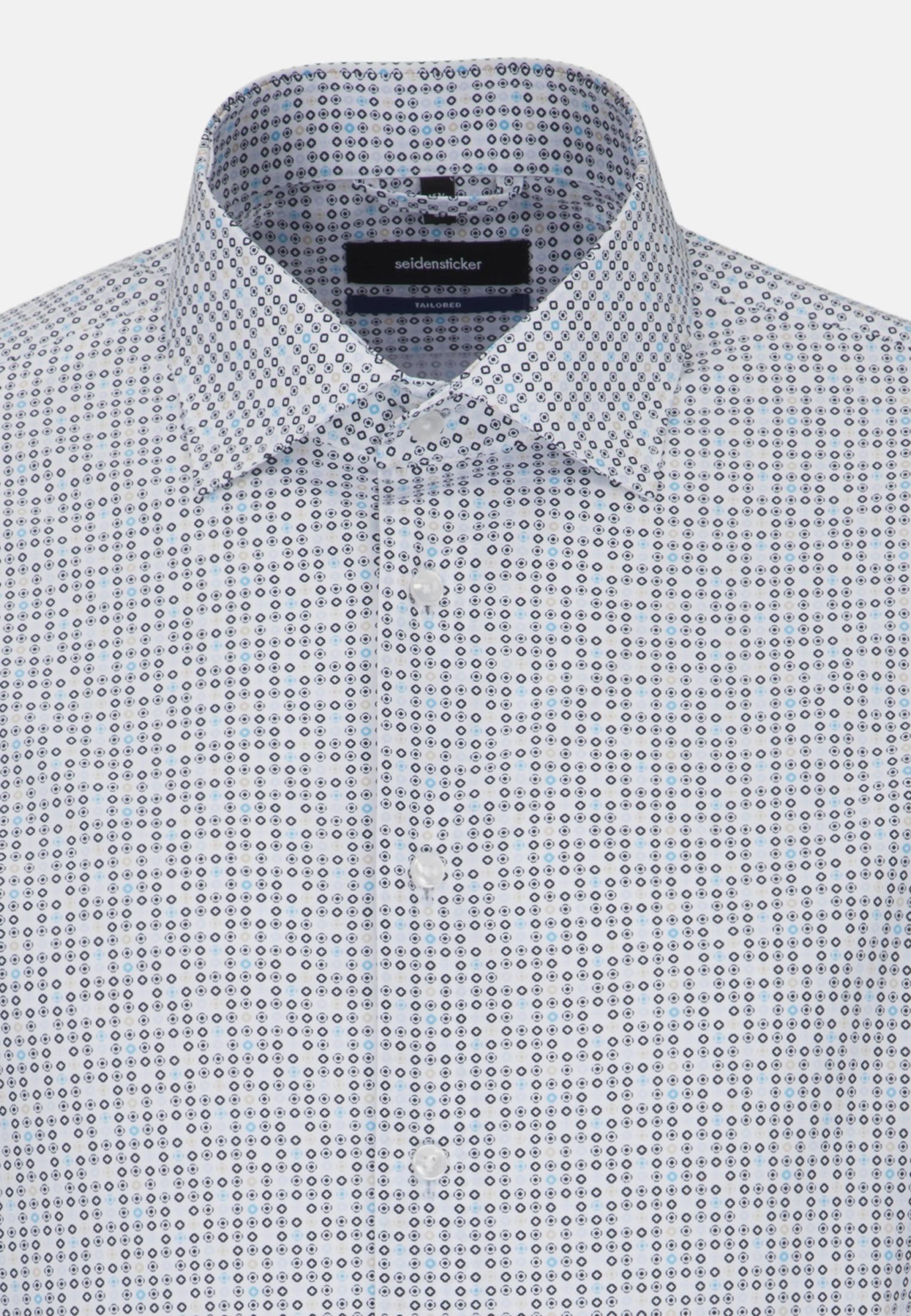 Easy-iron Poplin Business Shirt in Tailored with Kent-Collar in Light blue    Seidensticker Onlineshop