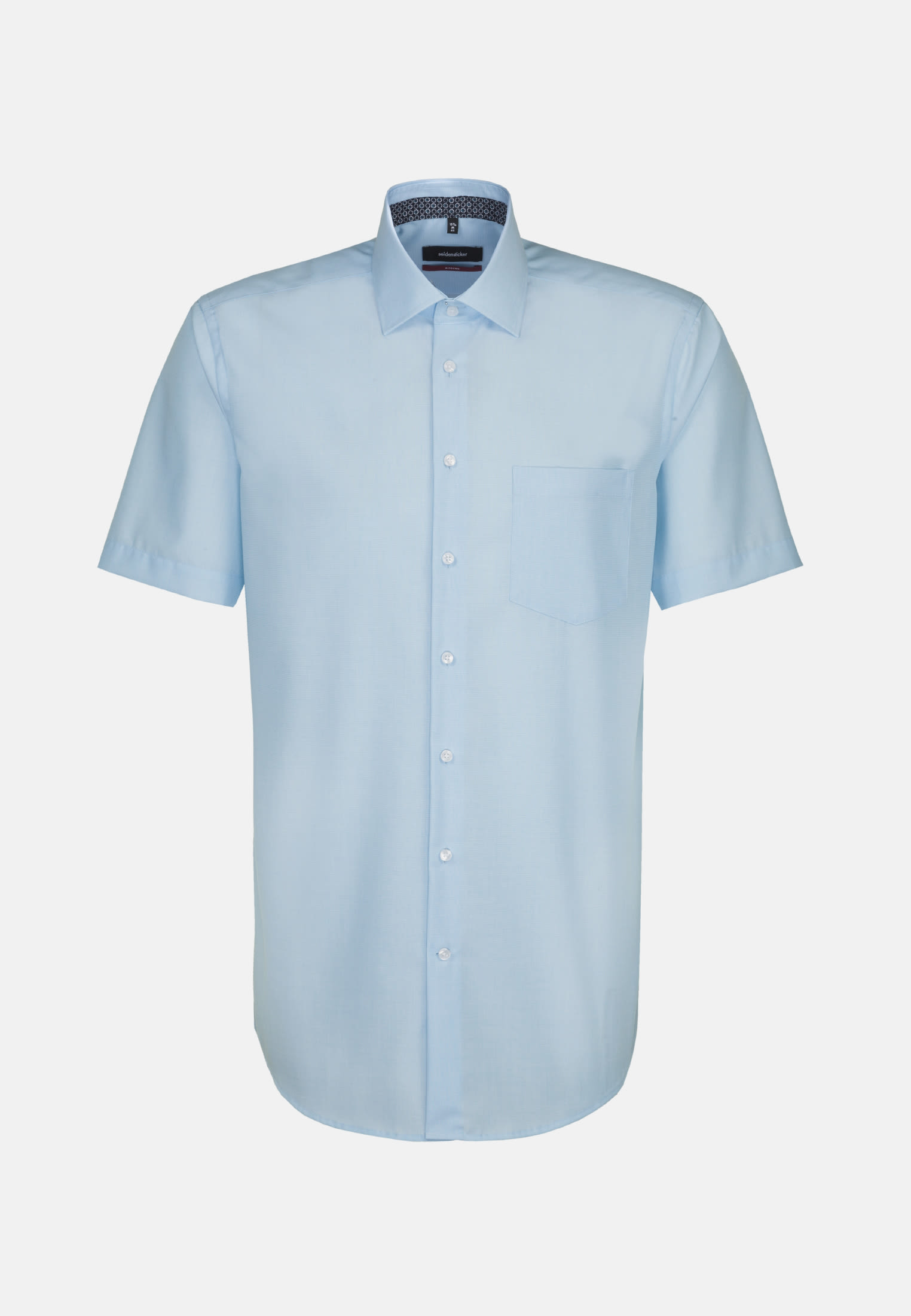 Non-iron Fil a fil Short sleeve Business Shirt in Regular with Kent-Collar in Turquoise |  Seidensticker Onlineshop
