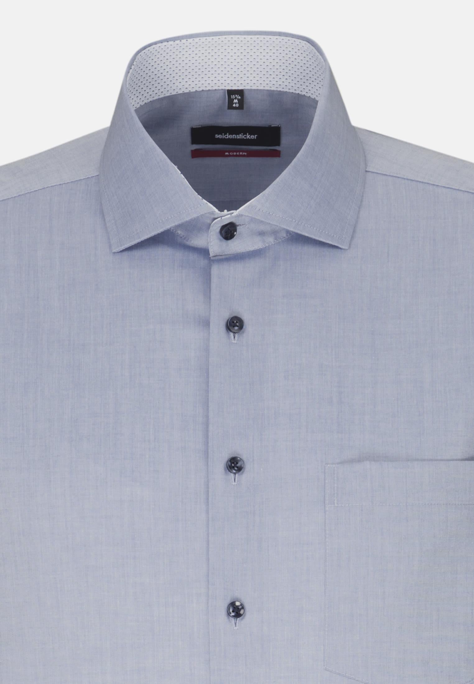 Non-iron Chambray Business Shirt in Regular with Kent-Collar in Medium blue |  Seidensticker Onlineshop