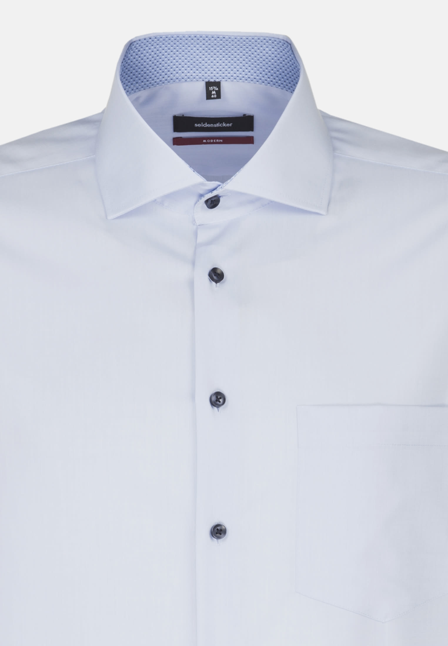 Non-iron Chambray Business Shirt in Modern with Kent-Collar in hellblau |  Seidensticker Onlineshop