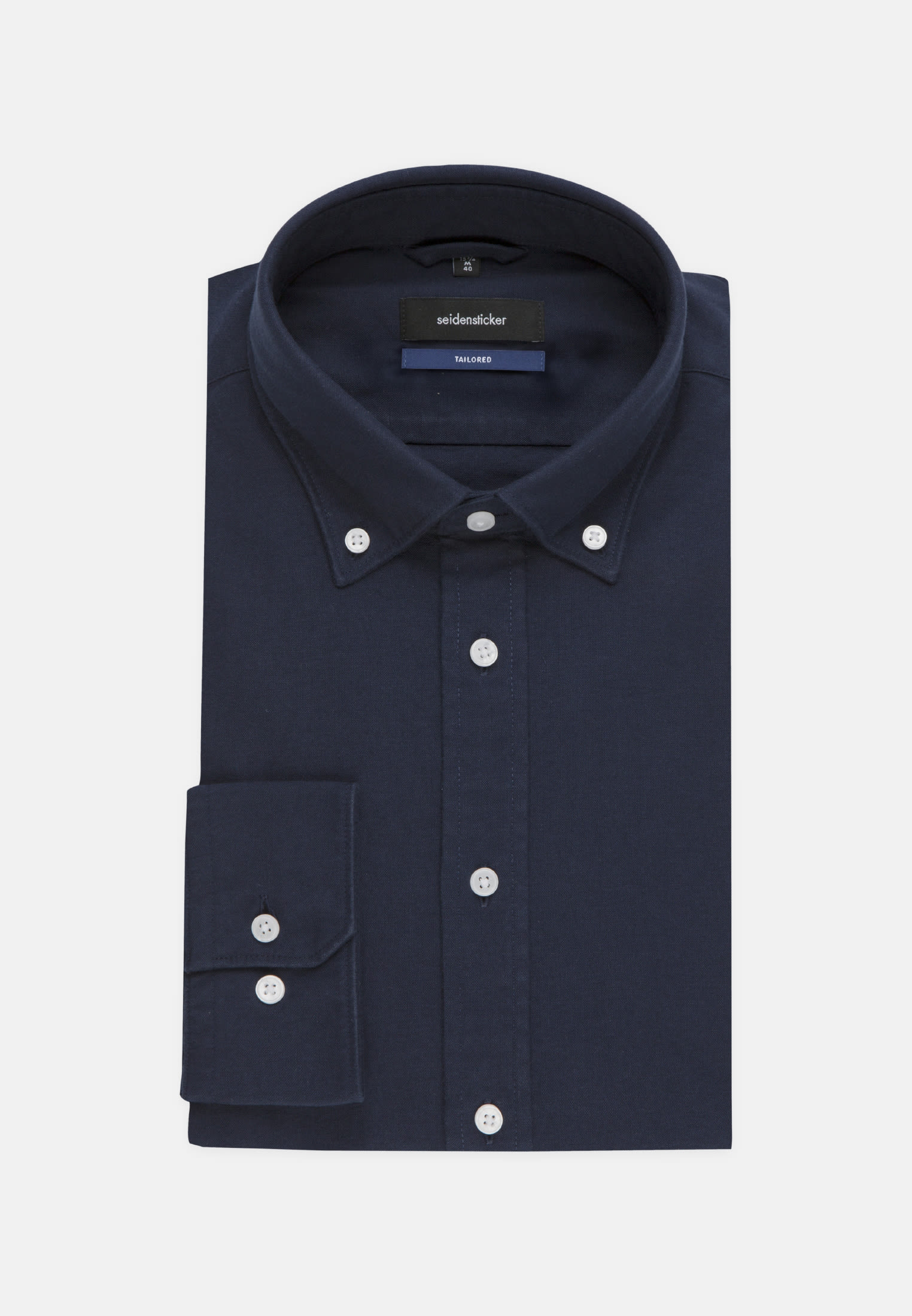 Bügelleichtes Oxford Business Hemd in Shaped mit Button Down Kragen