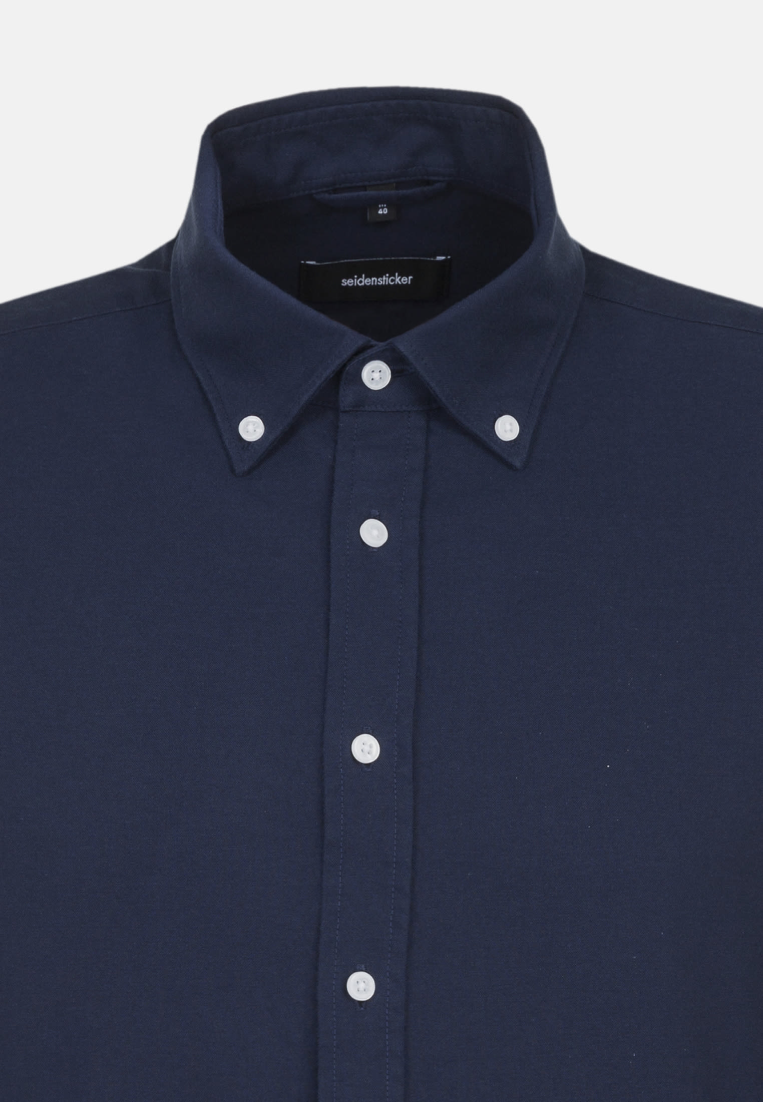 Easy-iron Oxford Business Shirt in Shaped with Button-Down-Collar in Dunkelblau |  Seidensticker Onlineshop