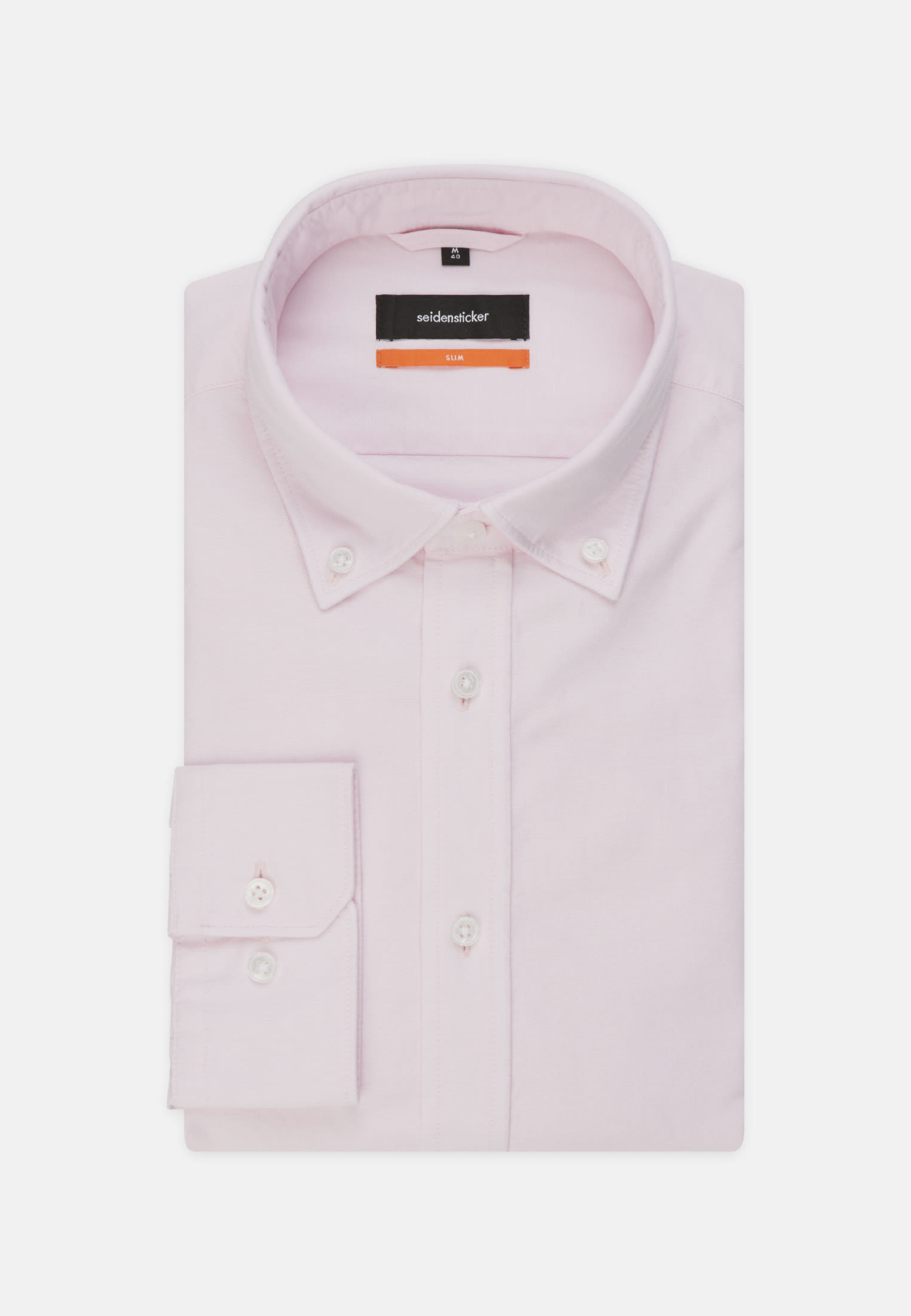 Bügelleichtes Oxford Business Hemd in Slim mit Button-Down-Kragen in Rosa/Pink |  Seidensticker Onlineshop