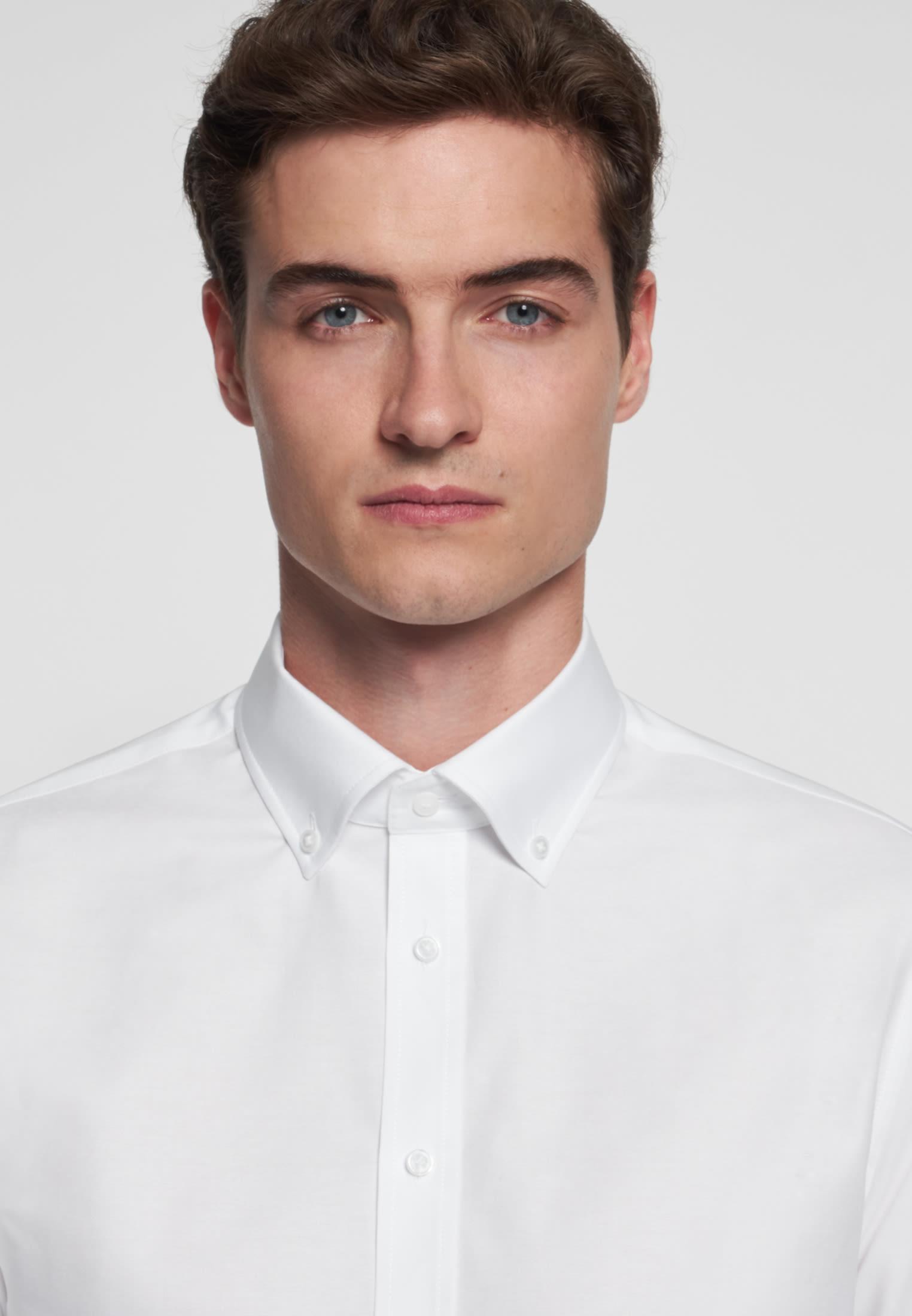 Easy-iron Oxford Business Shirt in Slim with Button-Down-Collar in White |  Seidensticker Onlineshop