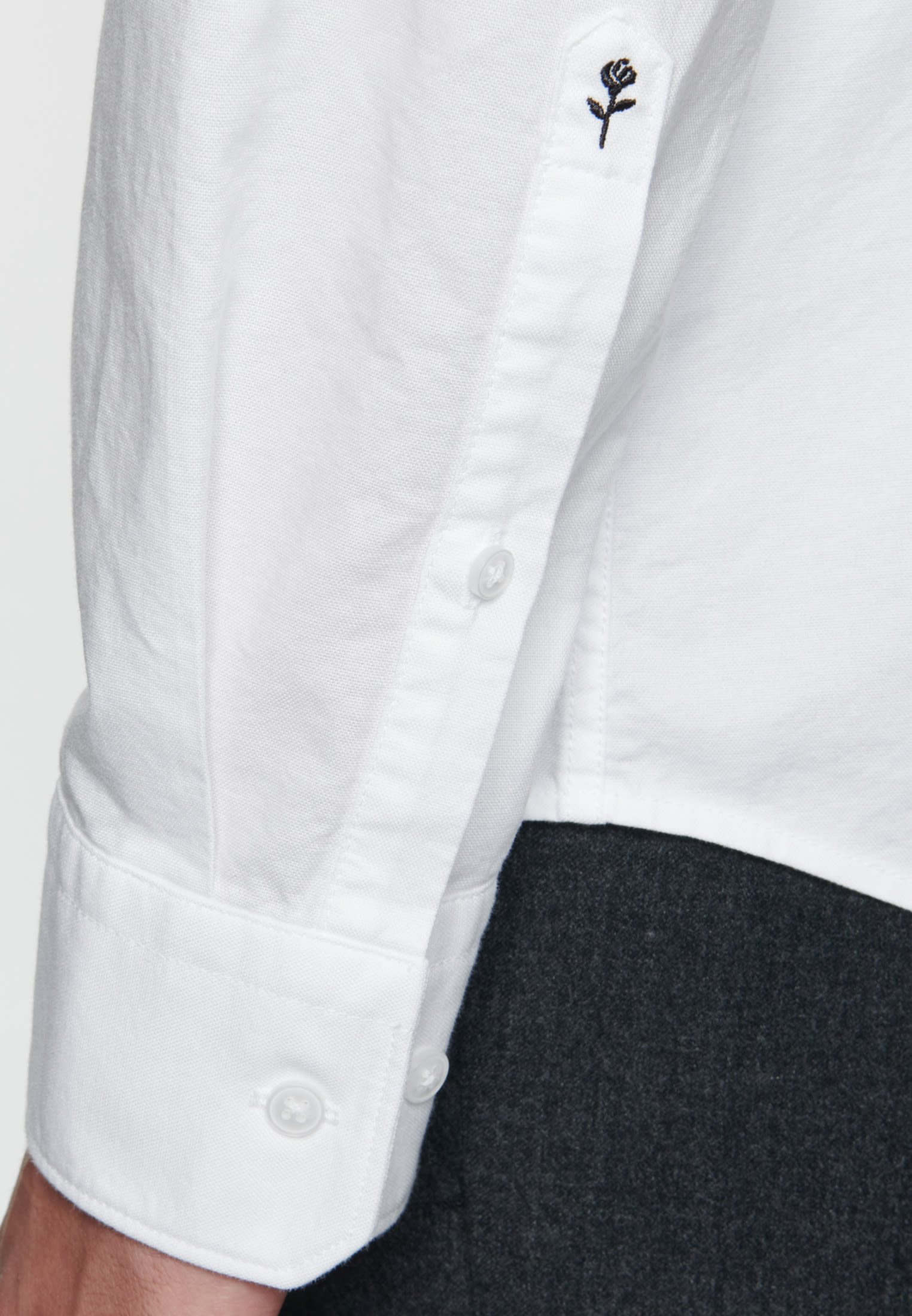 Easy-iron Oxford Business Shirt in Slim with Button-Down-Collar in weiß    Seidensticker Onlineshop