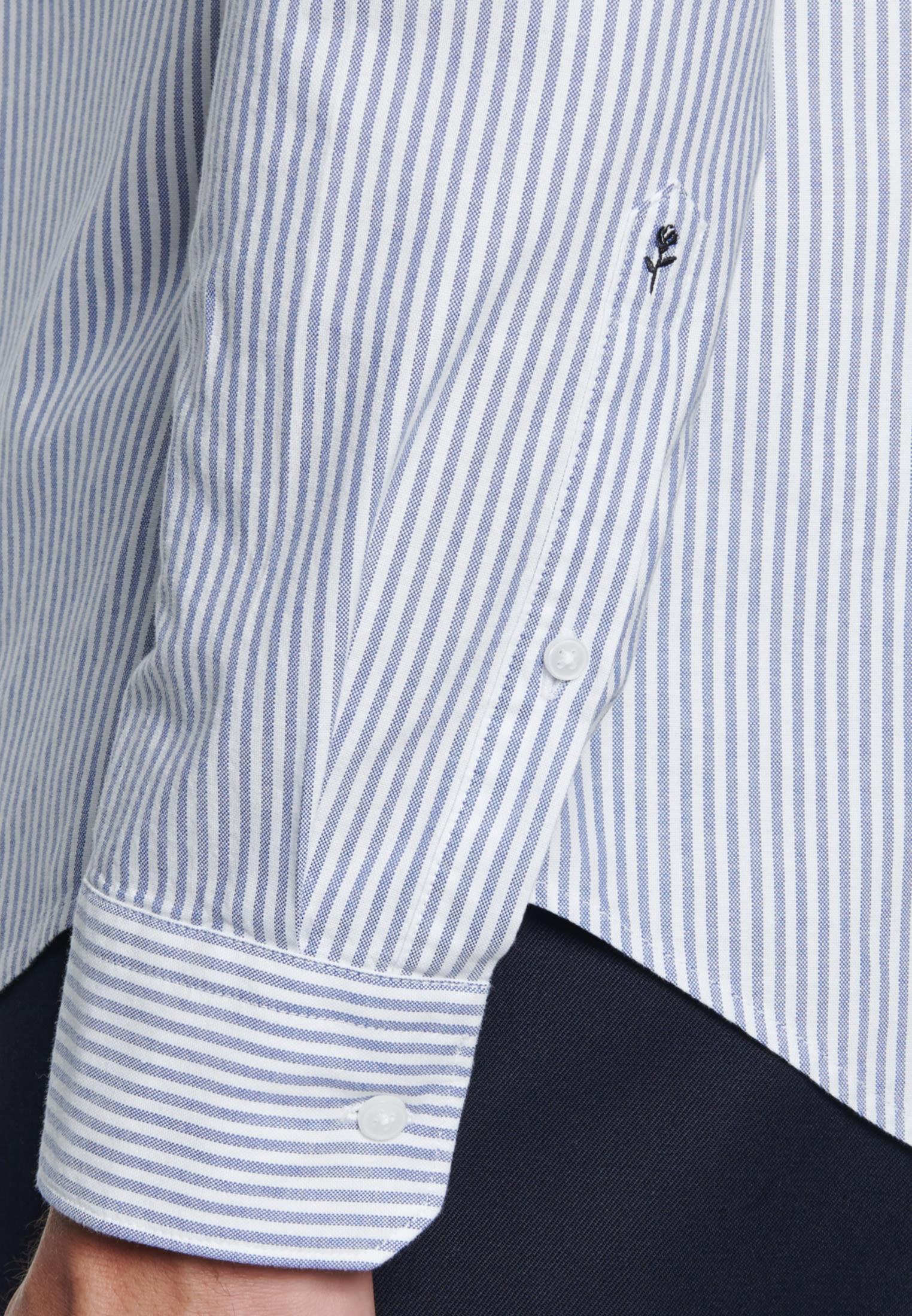Easy-iron Oxford Business Shirt in Slim with Button-Down-Collar in Light blue    Seidensticker Onlineshop