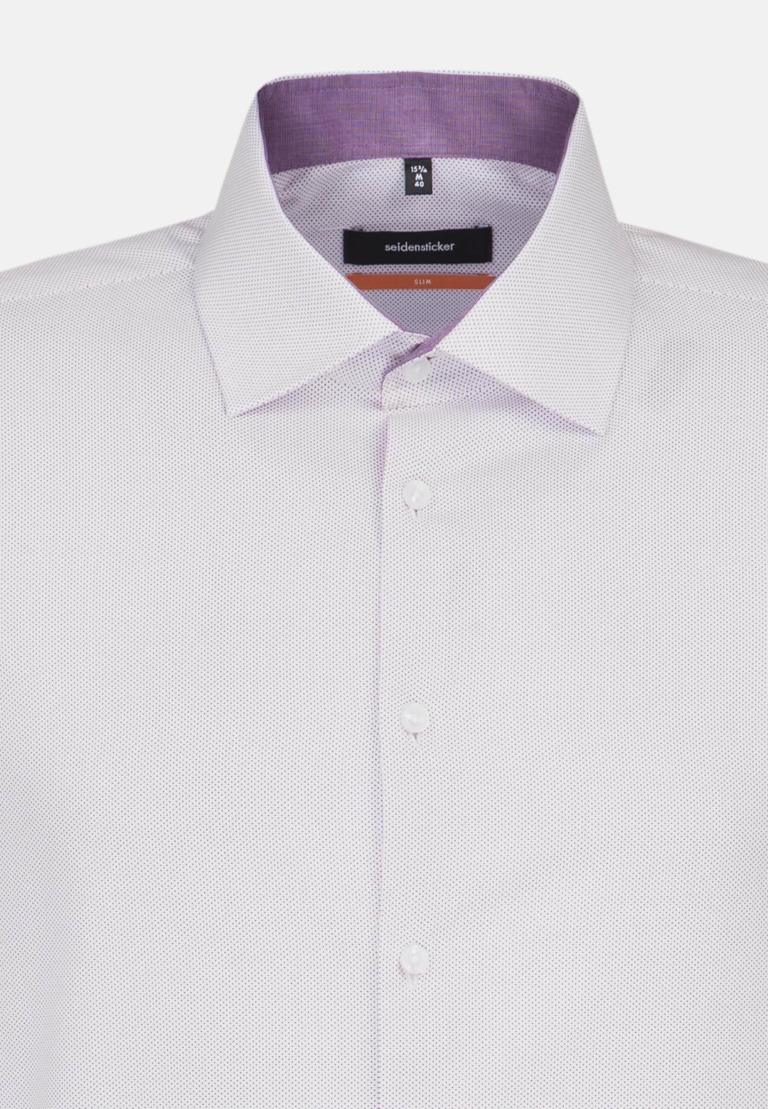Bügelleichtes Popeline Business Hemd in Slim mit Kentkragen in Lila |  Seidensticker Onlineshop