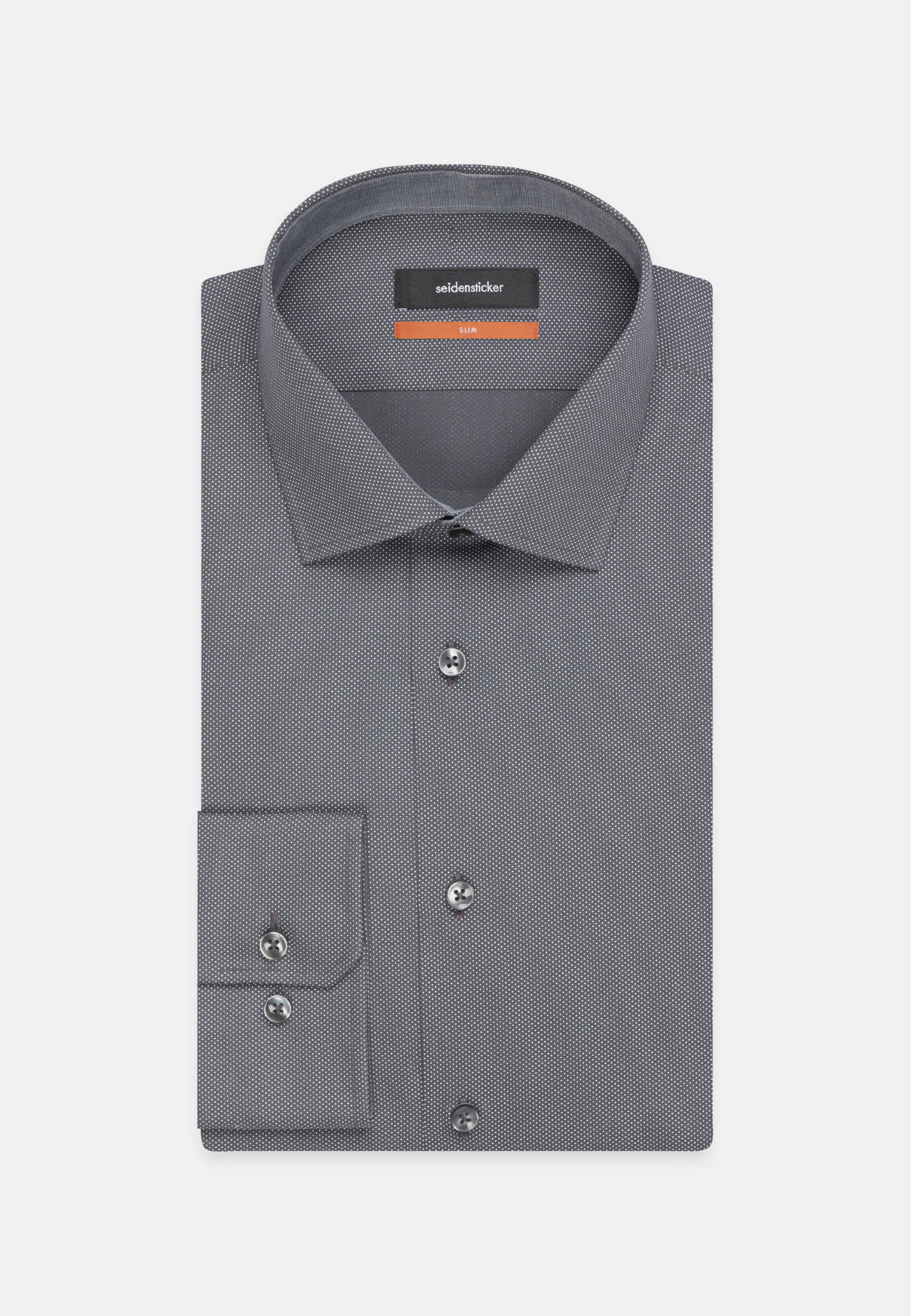 Easy-iron Poplin Business Shirt in Slim with Kent-Collar in Grey |  Seidensticker Onlineshop