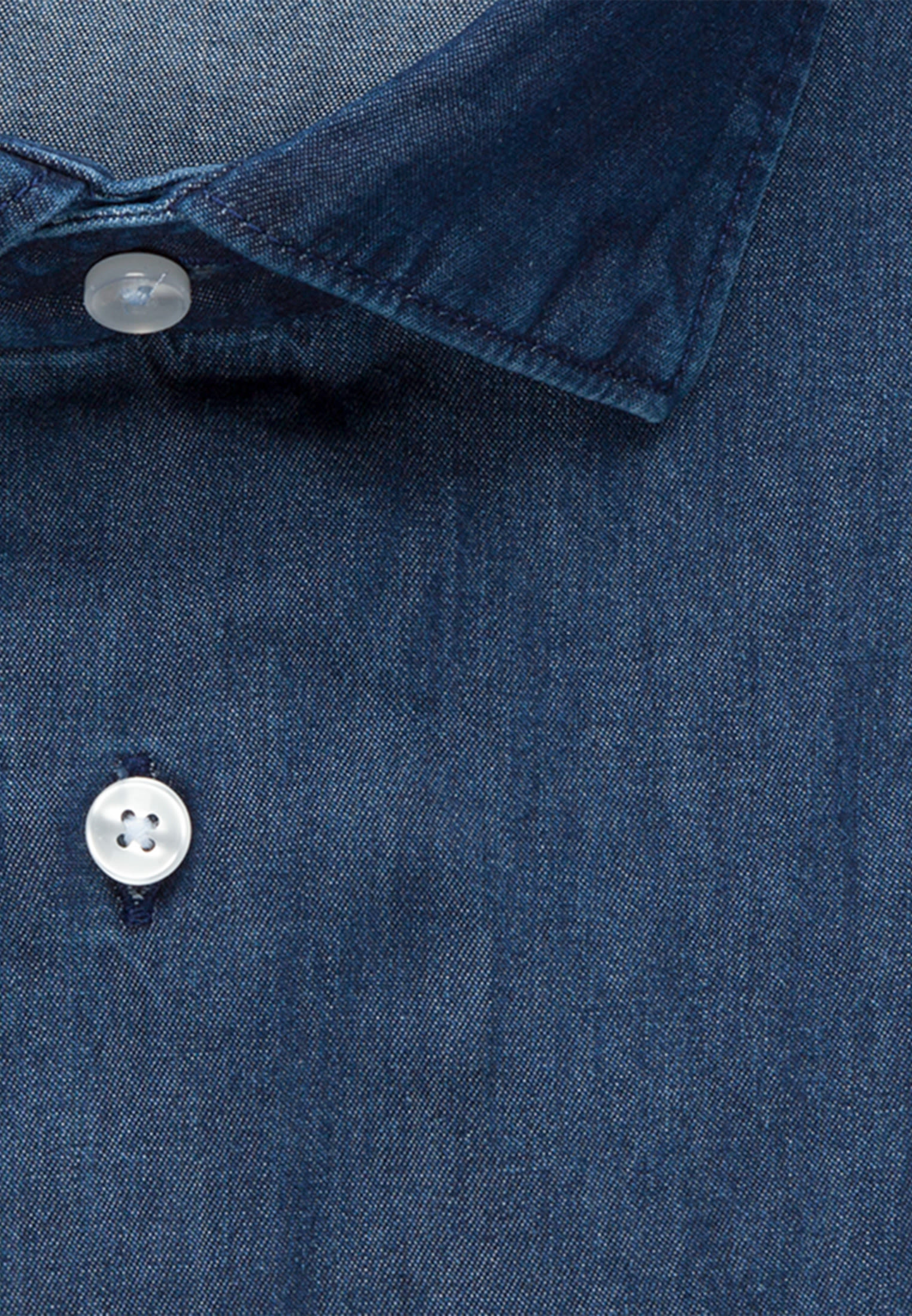Easy-iron Denim Business Shirt in Slim with Kent-Collar in Dark blue |  Seidensticker Onlineshop