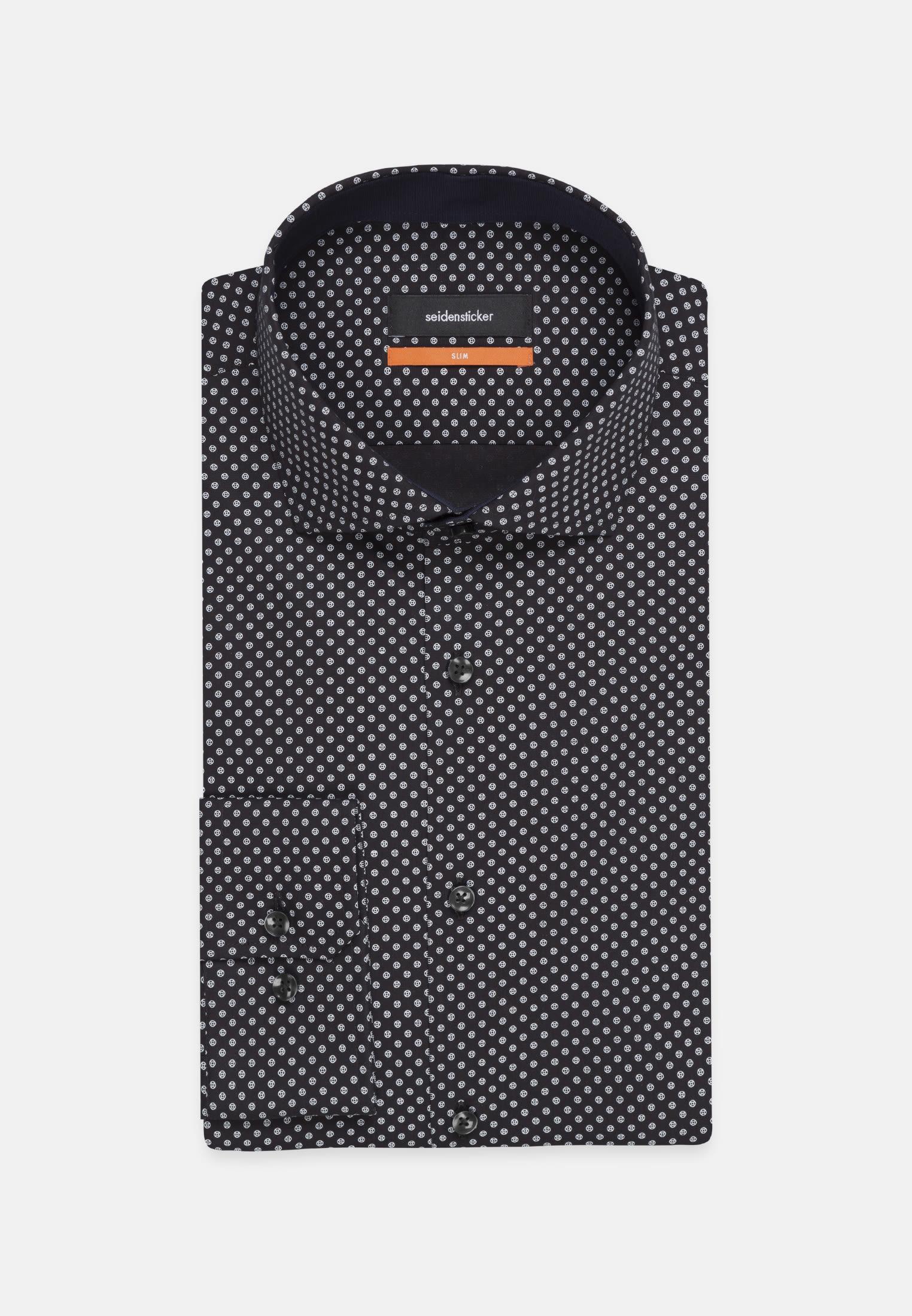 Easy-iron Poplin Business Shirt in Slim with Kent-Collar in Grey    Seidensticker Onlineshop
