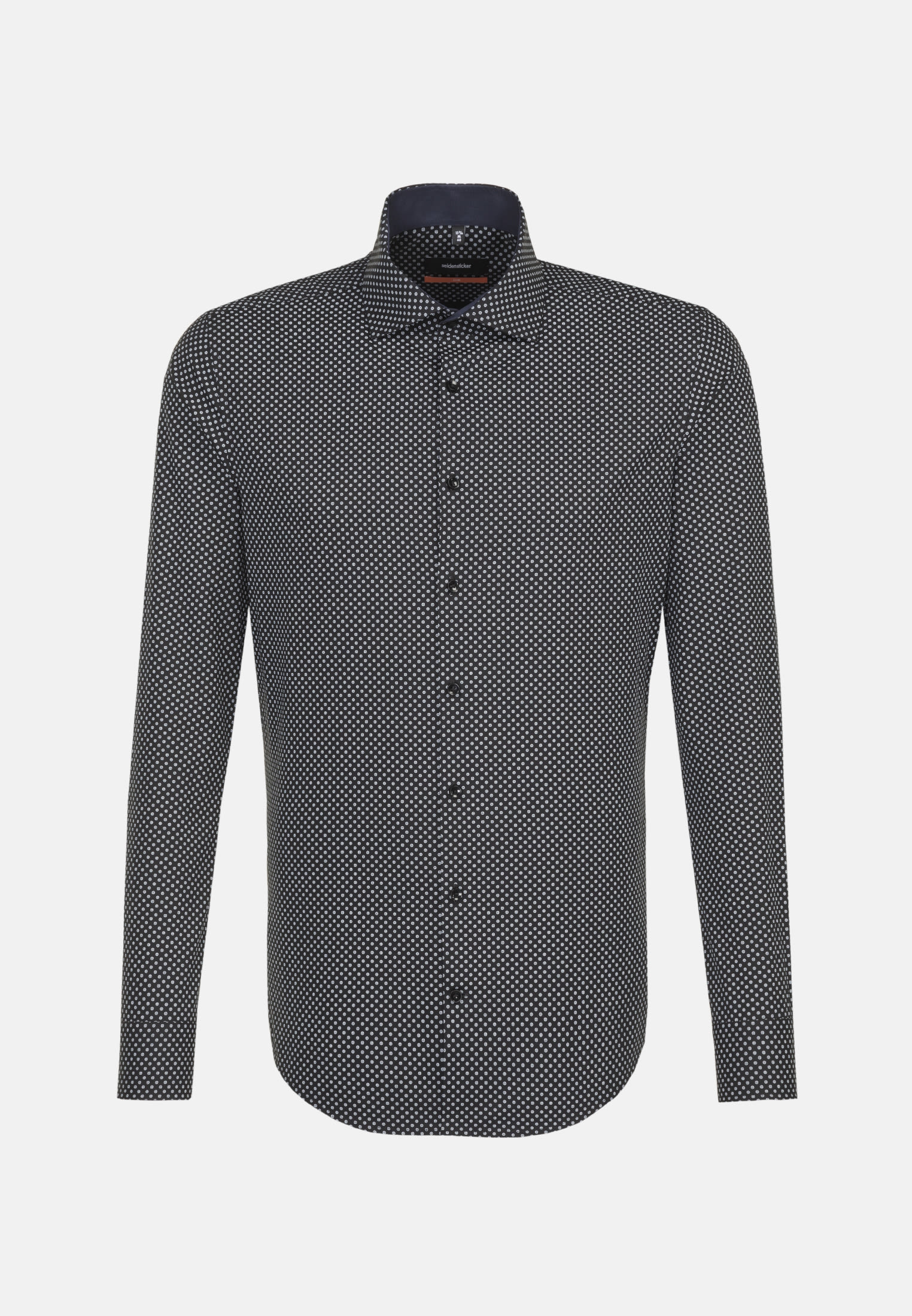 Easy-iron Poplin Business Shirt in Slim with Kent-Collar in Grey |  Seidensticker Onlineshop