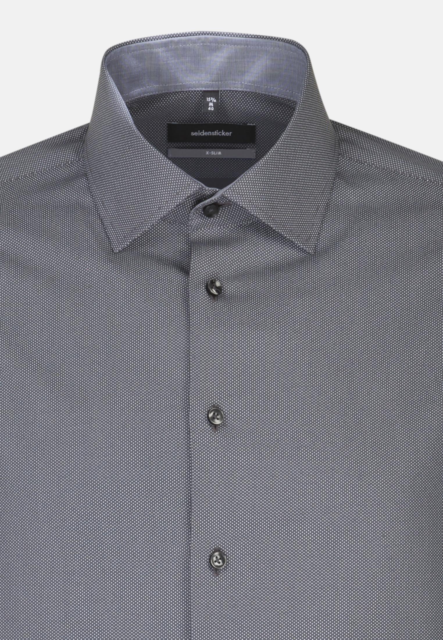 Easy-iron Poplin Business Shirt in X-Slim with Kent-Collar in Grey |  Seidensticker Onlineshop