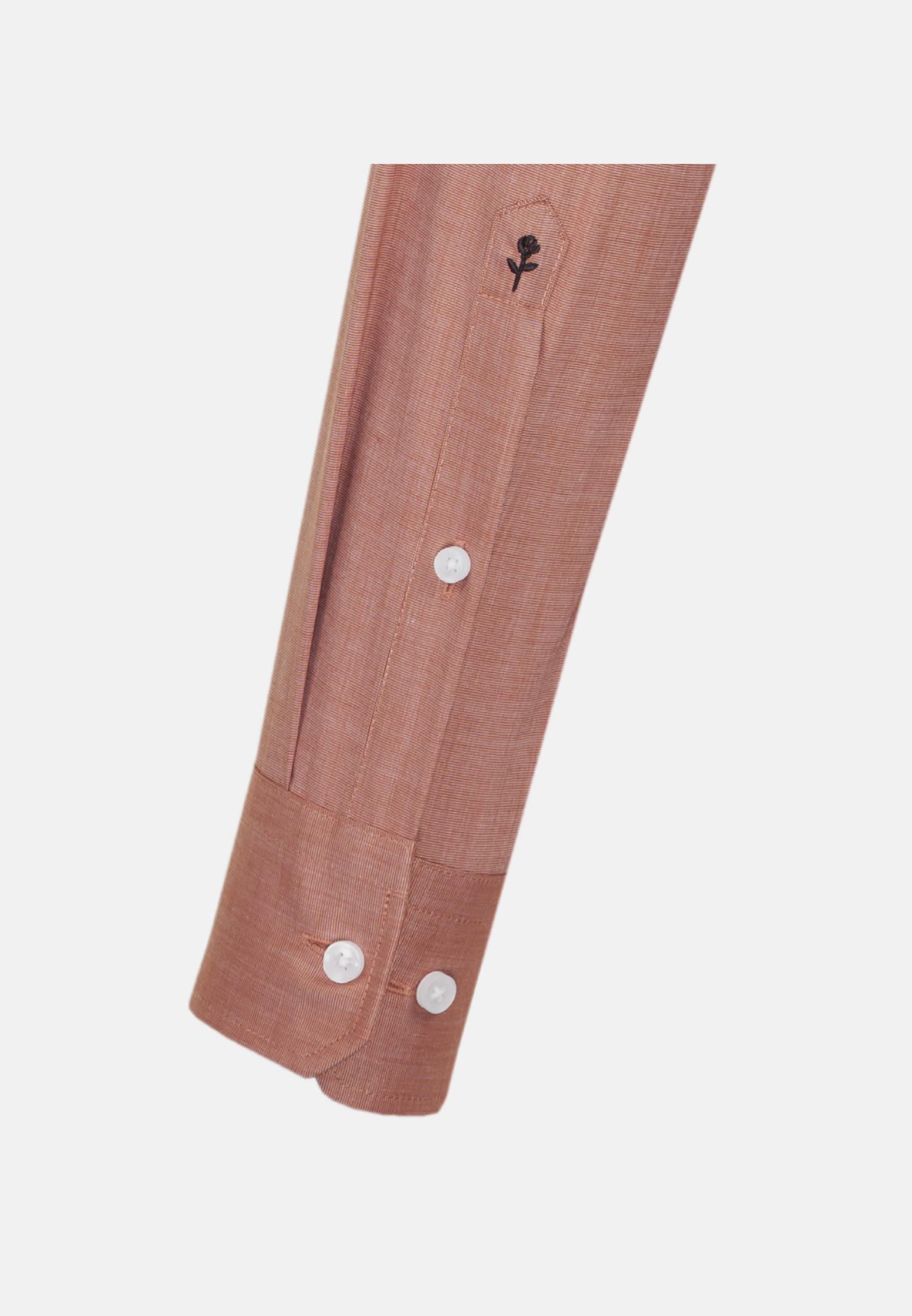 Non-iron Fil a fil Business Shirt in Slim with Kent-Collar in Orange |  Seidensticker Onlineshop