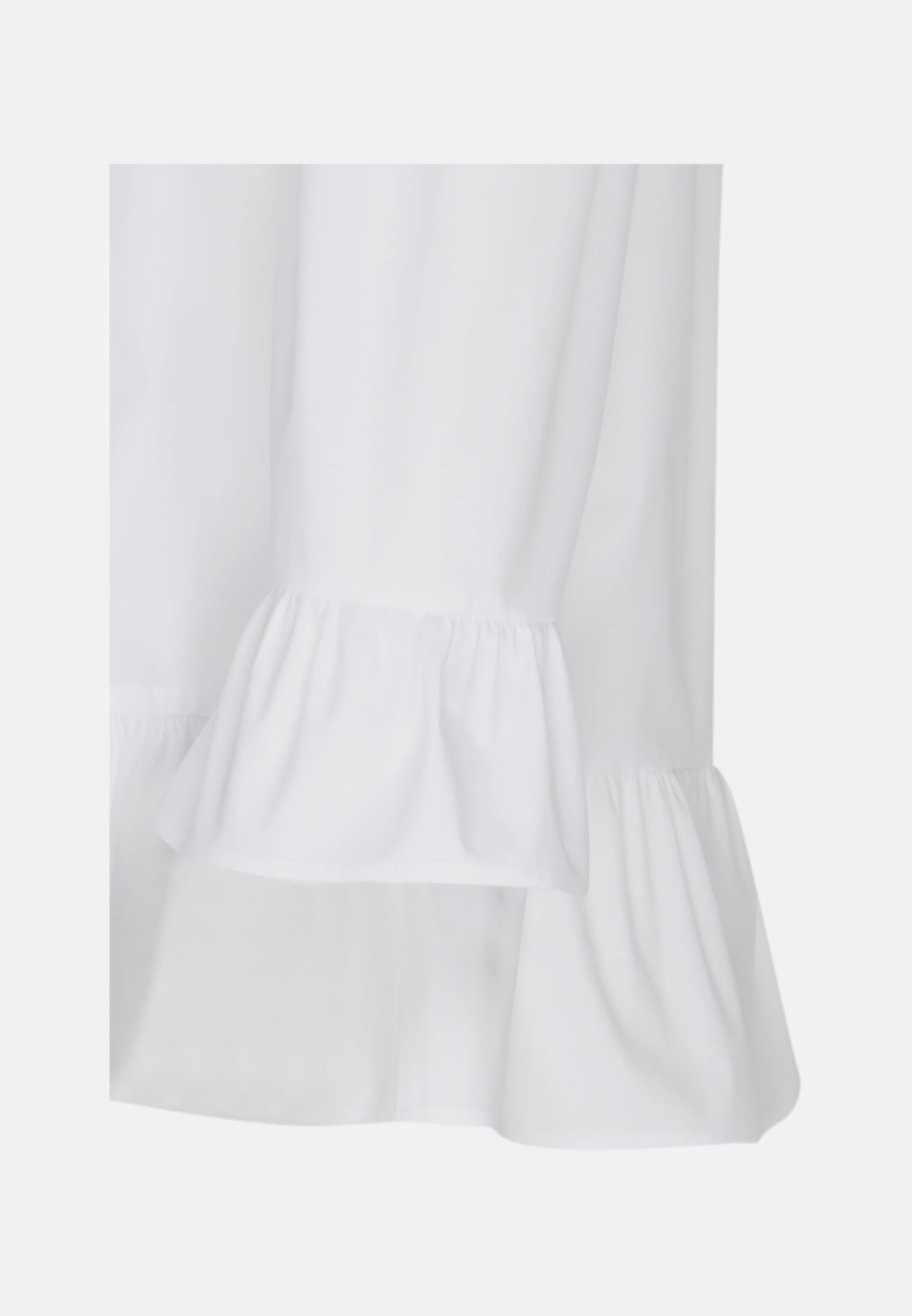 3/4 Arm Popeline Carmenbluse aus Baumwollmischung in Weiß    Seidensticker Onlineshop