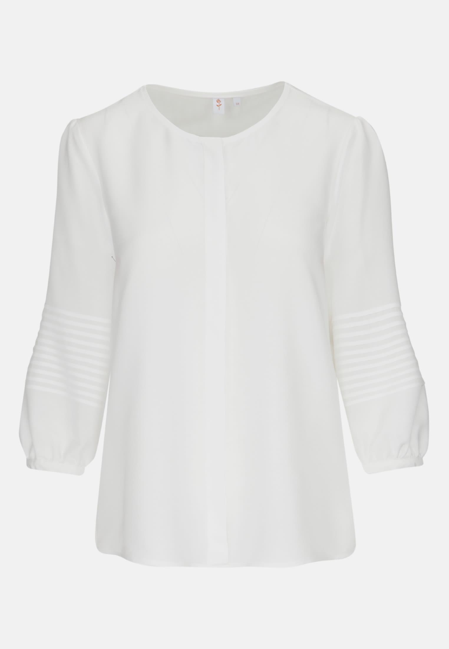 3/4 arm Voile Shirt Blouse aus 100% Viskose in offwhite |  Seidensticker Onlineshop
