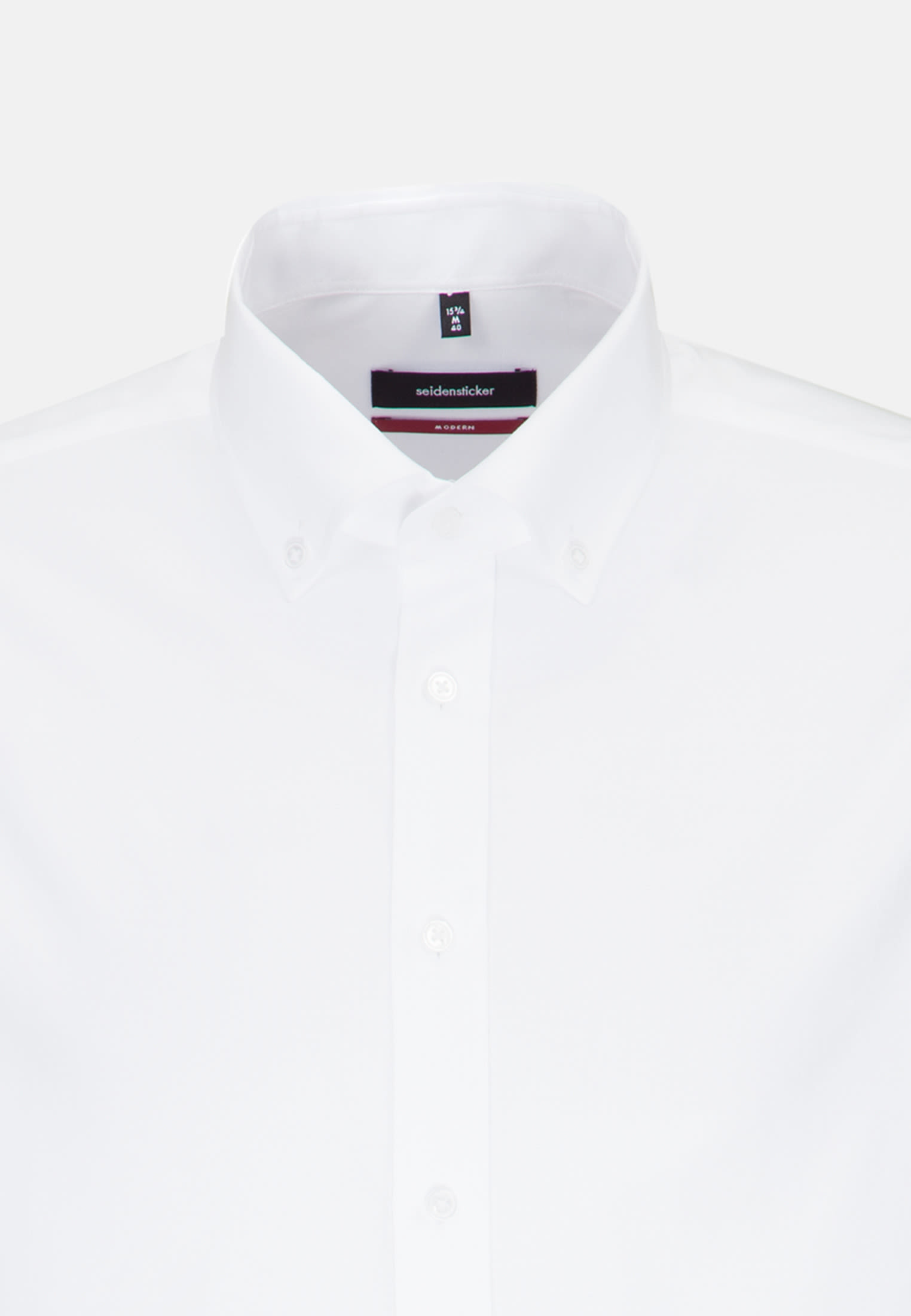 Bügelleichtes Oxford Business Hemd in Regular mit Button-Down-Kragen in Weiß |  Seidensticker Onlineshop