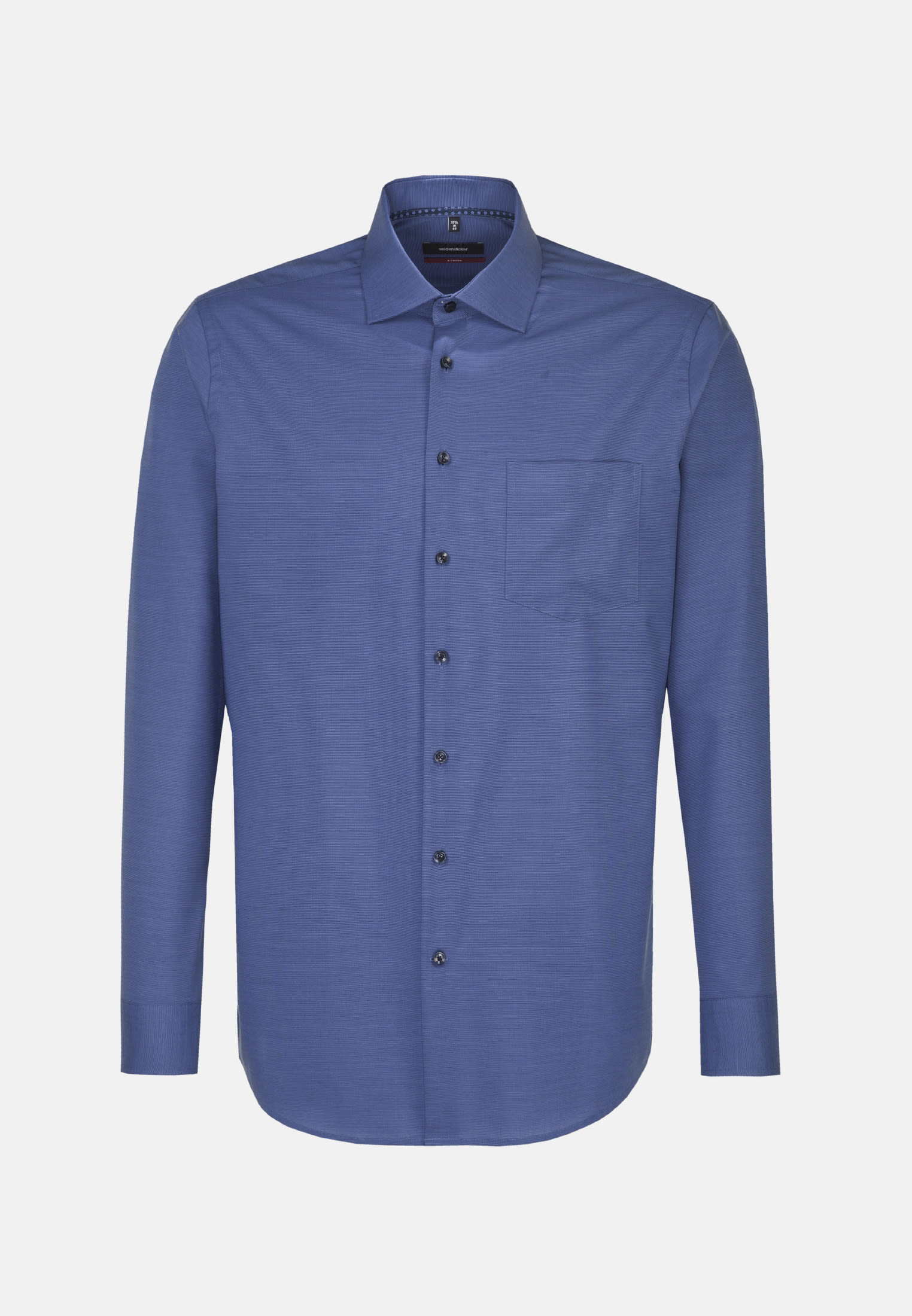 Non-iron Fil a fil Business Shirt in Regular with Kent-Collar in Medium blue |  Seidensticker Onlineshop