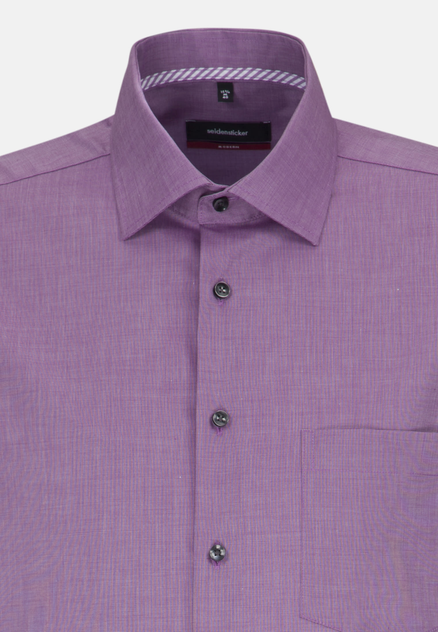 Bügelfreies Fil a fil Business Hemd in Regular mit Kentkragen in Lila |  Seidensticker Onlineshop