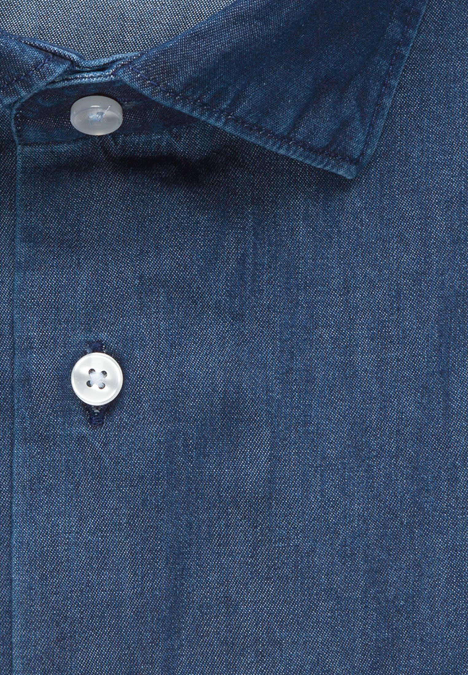 Easy-iron Denim Business Shirt in Regular with Kent-Collar in Dark blue |  Seidensticker Onlineshop