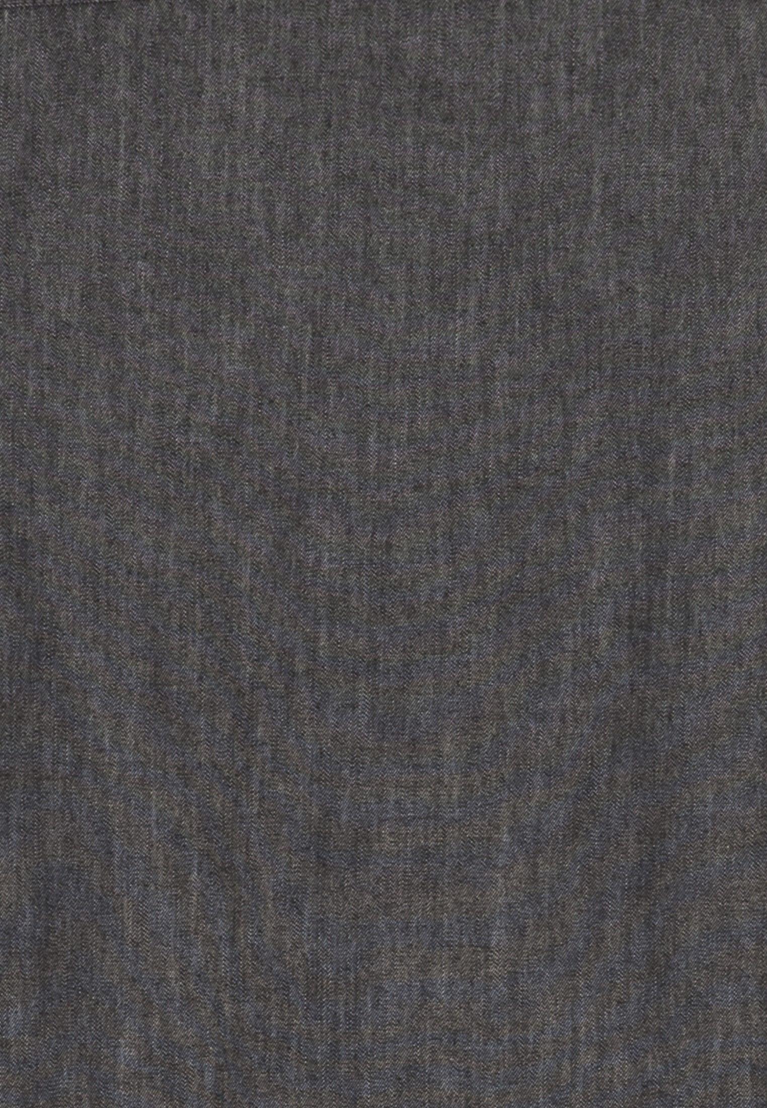Bügelleichtes Denim Business Hemd in Regular mit Kentkragen in Grau |  Seidensticker Onlineshop