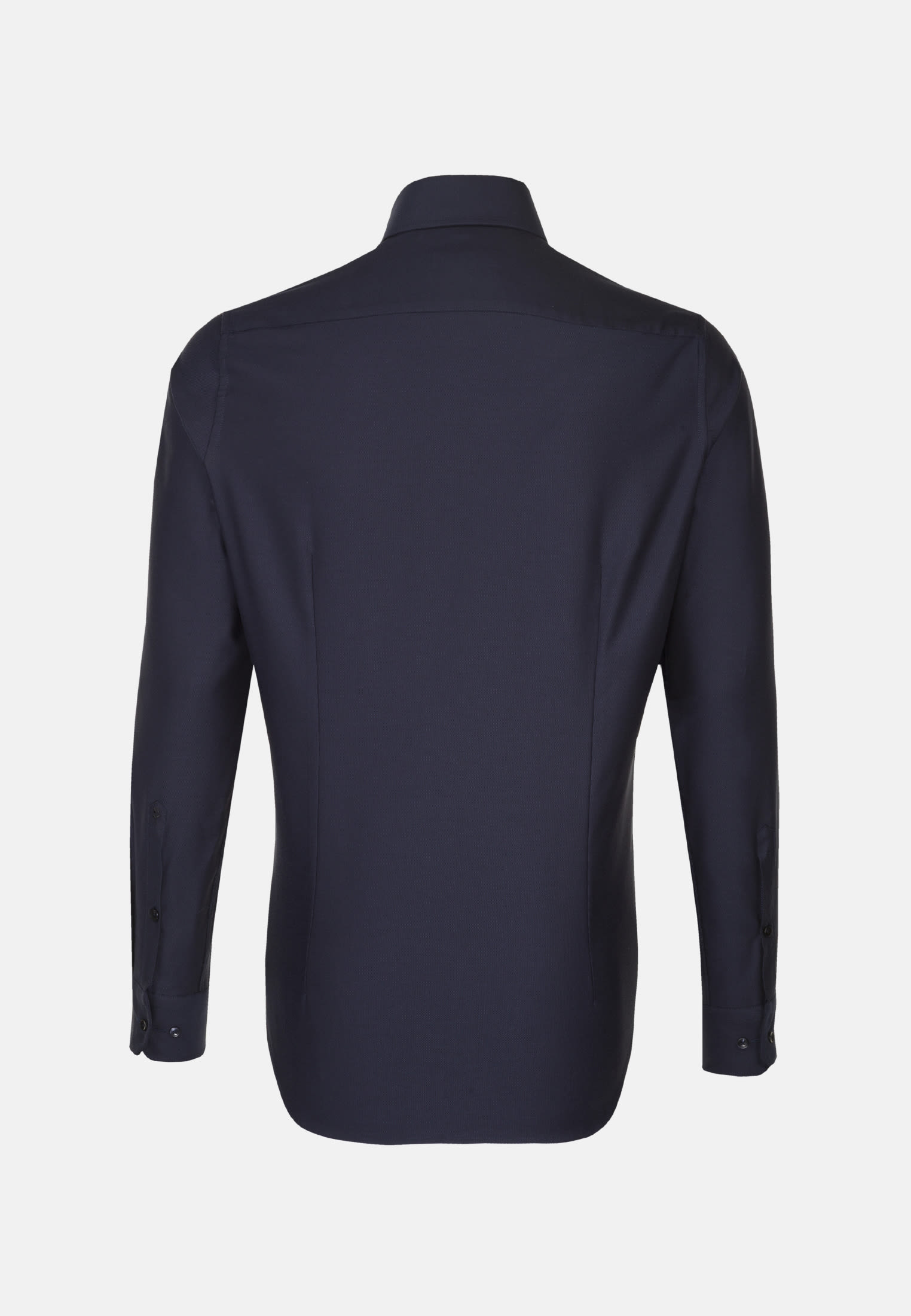 Easy-iron Structure Business Shirt in Slim with Shark Collar in Dark blue |  Seidensticker Onlineshop