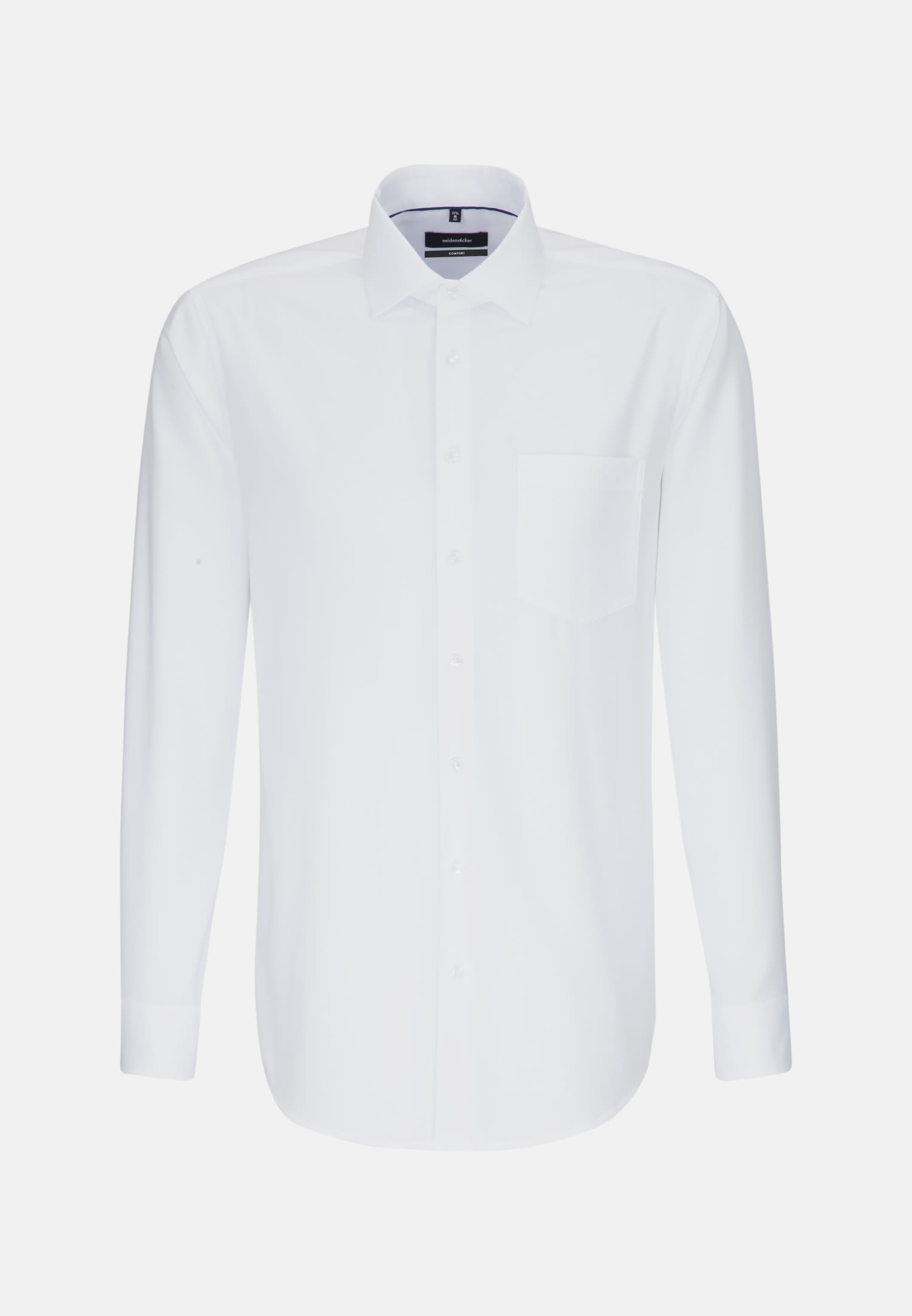 Non-iron Structure Business Shirt in Comfort with Kent-Collar in White |  Seidensticker Onlineshop