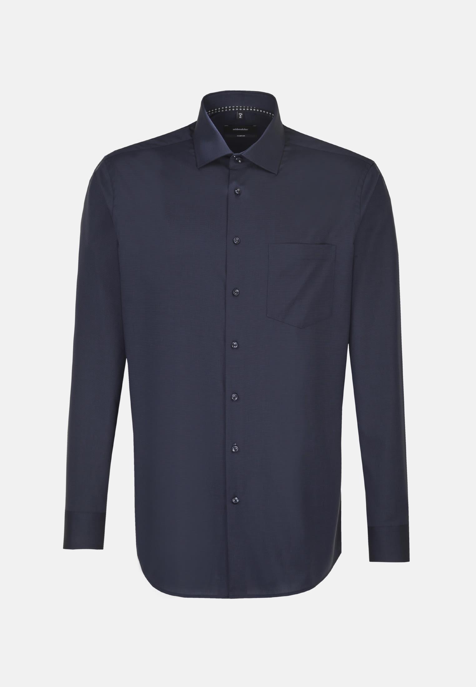 Bügelfreies Fil a fil Business Hemd in Comfort mit Kentkragen in Grau |  Seidensticker Onlineshop