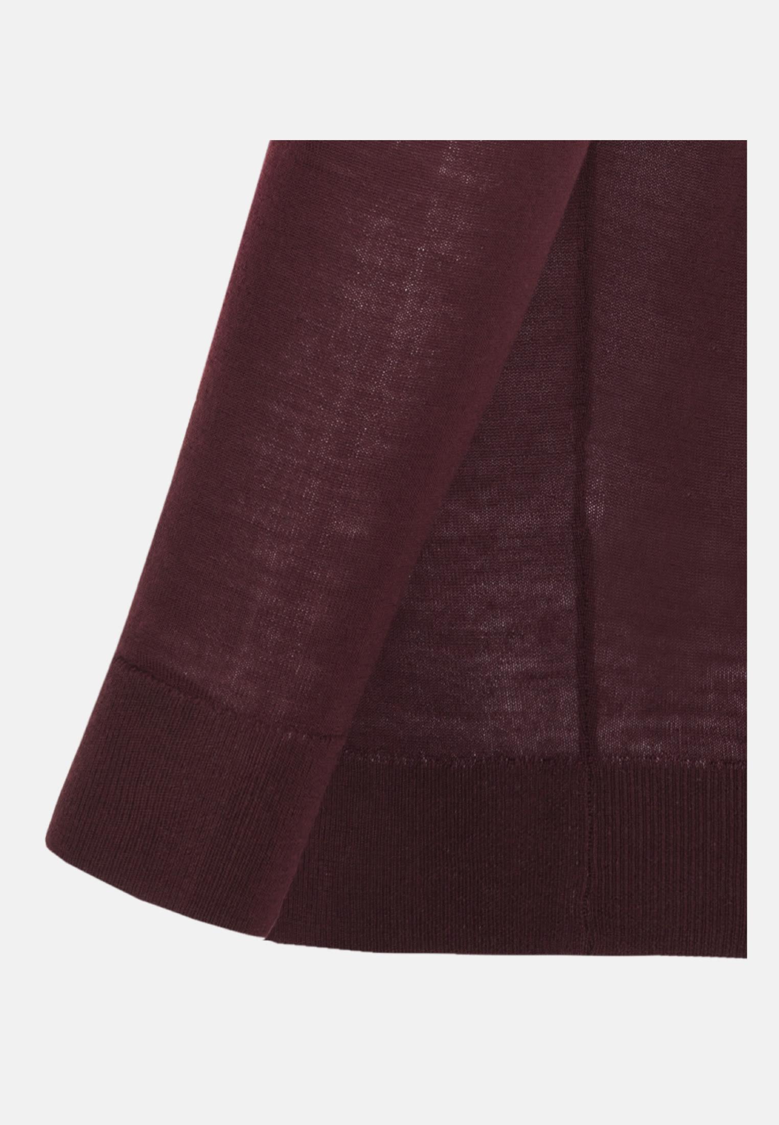 Rundhals Pullover aus 100% Wolle in Rot |  Seidensticker Onlineshop
