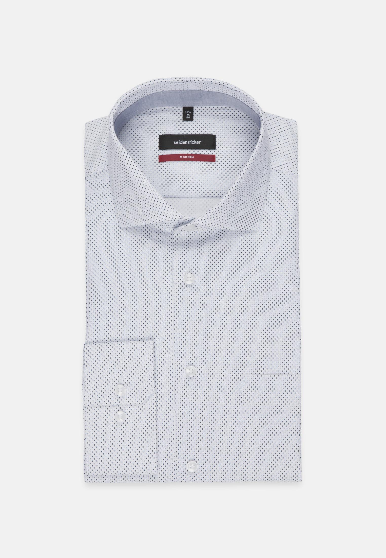 Easy-iron Poplin Business Shirt in Modern with Kent-Collar in Light blue |  Seidensticker Onlineshop