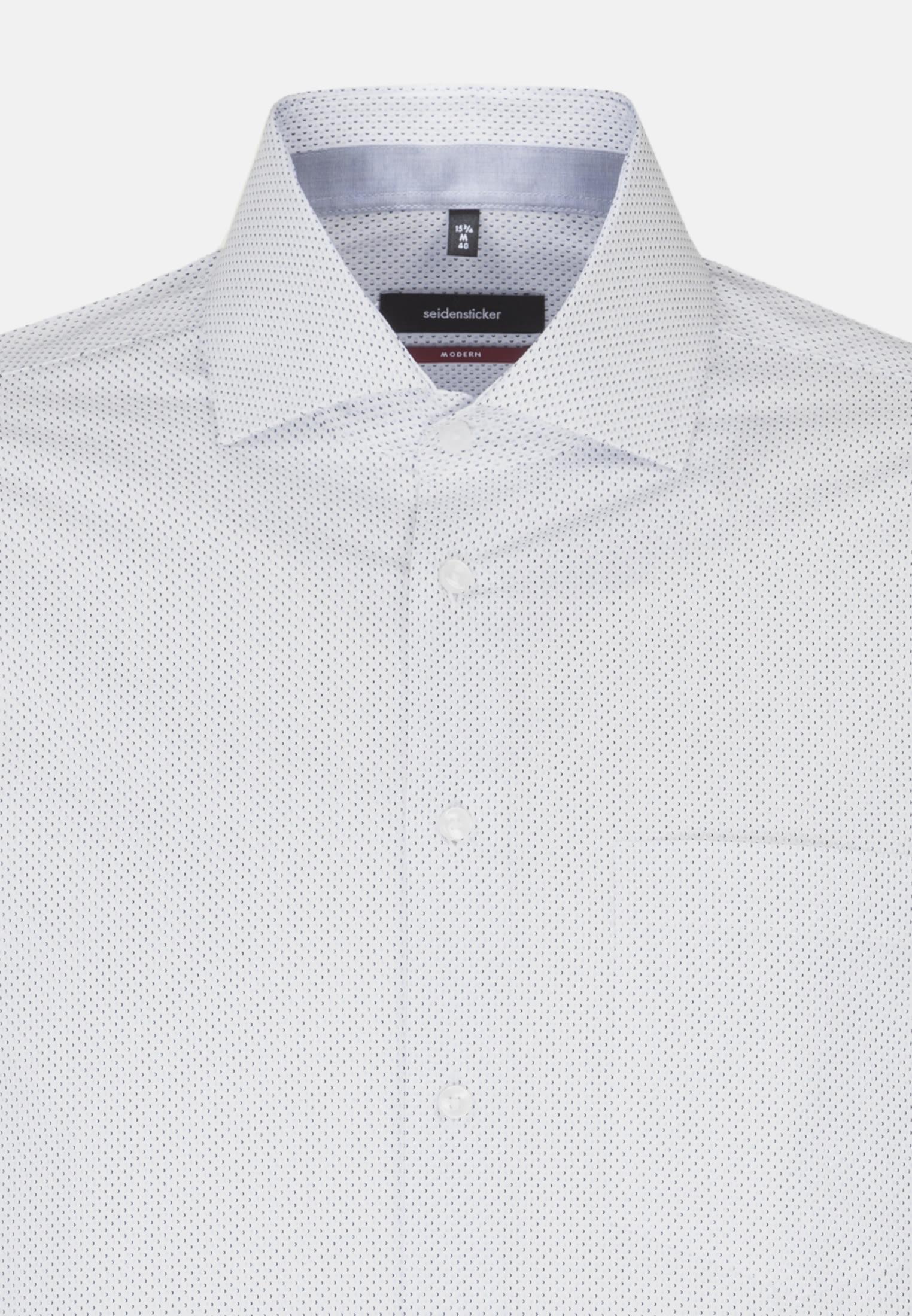 Easy-iron Poplin Business Shirt in Modern with Kent-Collar in Light blue    Seidensticker Onlineshop