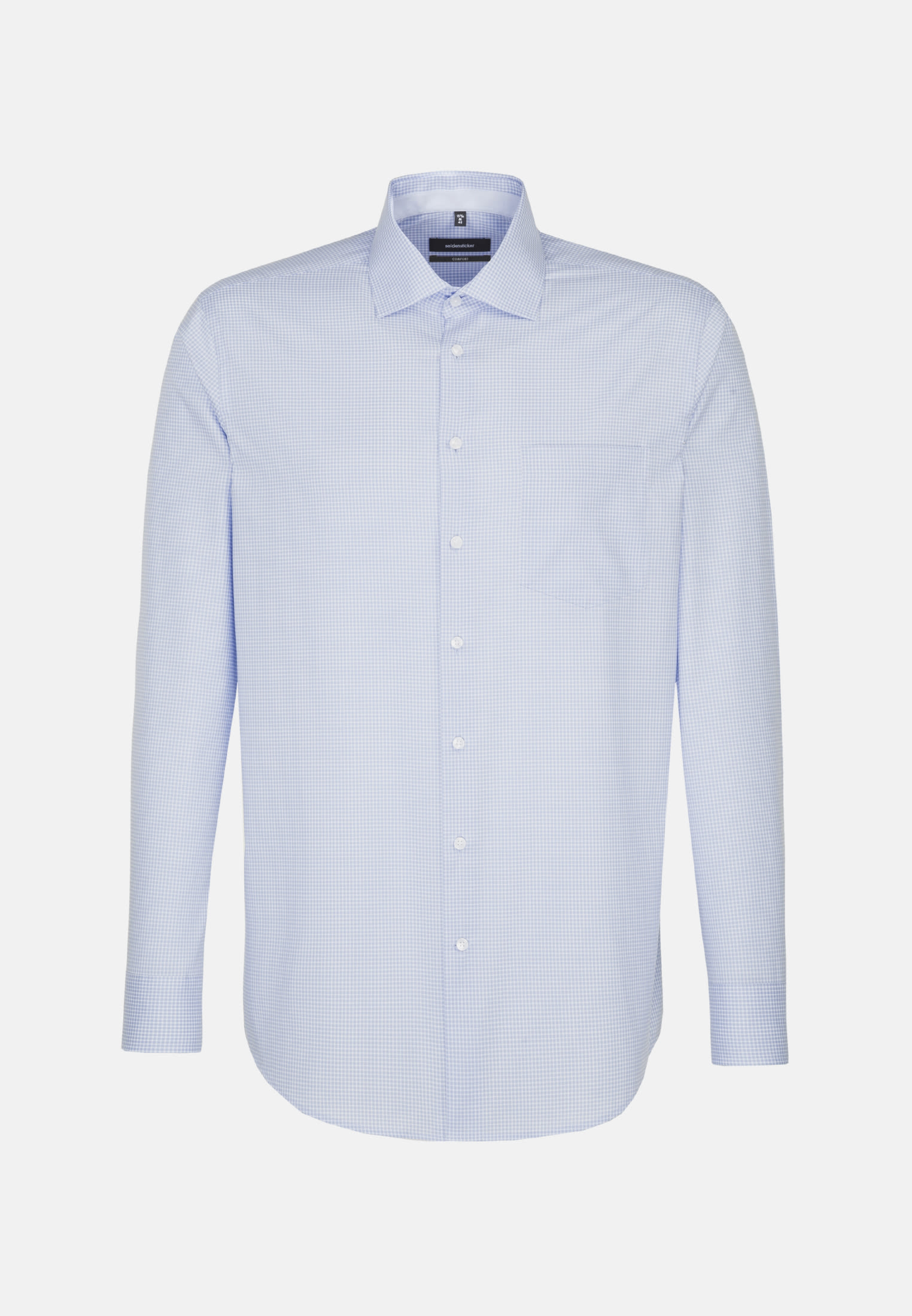 Non-iron Poplin Business Shirt in Comfort with Kent-Collar in hellblau |  Seidensticker Onlineshop