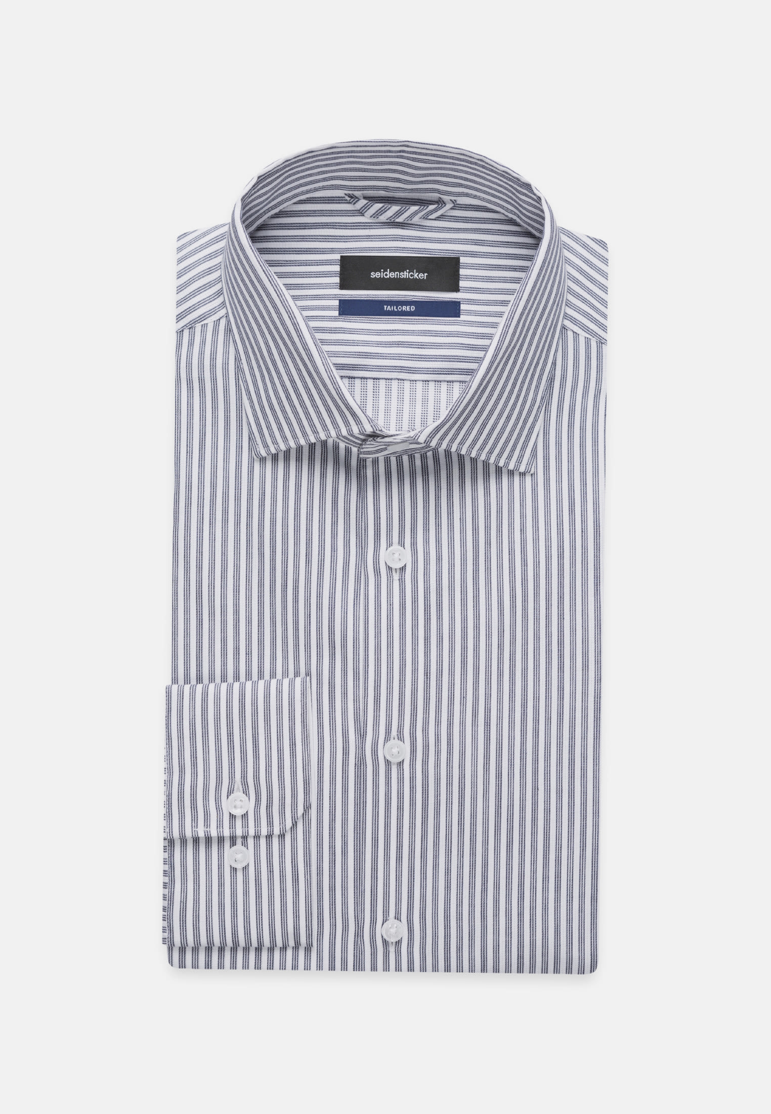Easy-iron Structure Business Shirt in Tailored with Kent-Collar in Medium blue |  Seidensticker Onlineshop