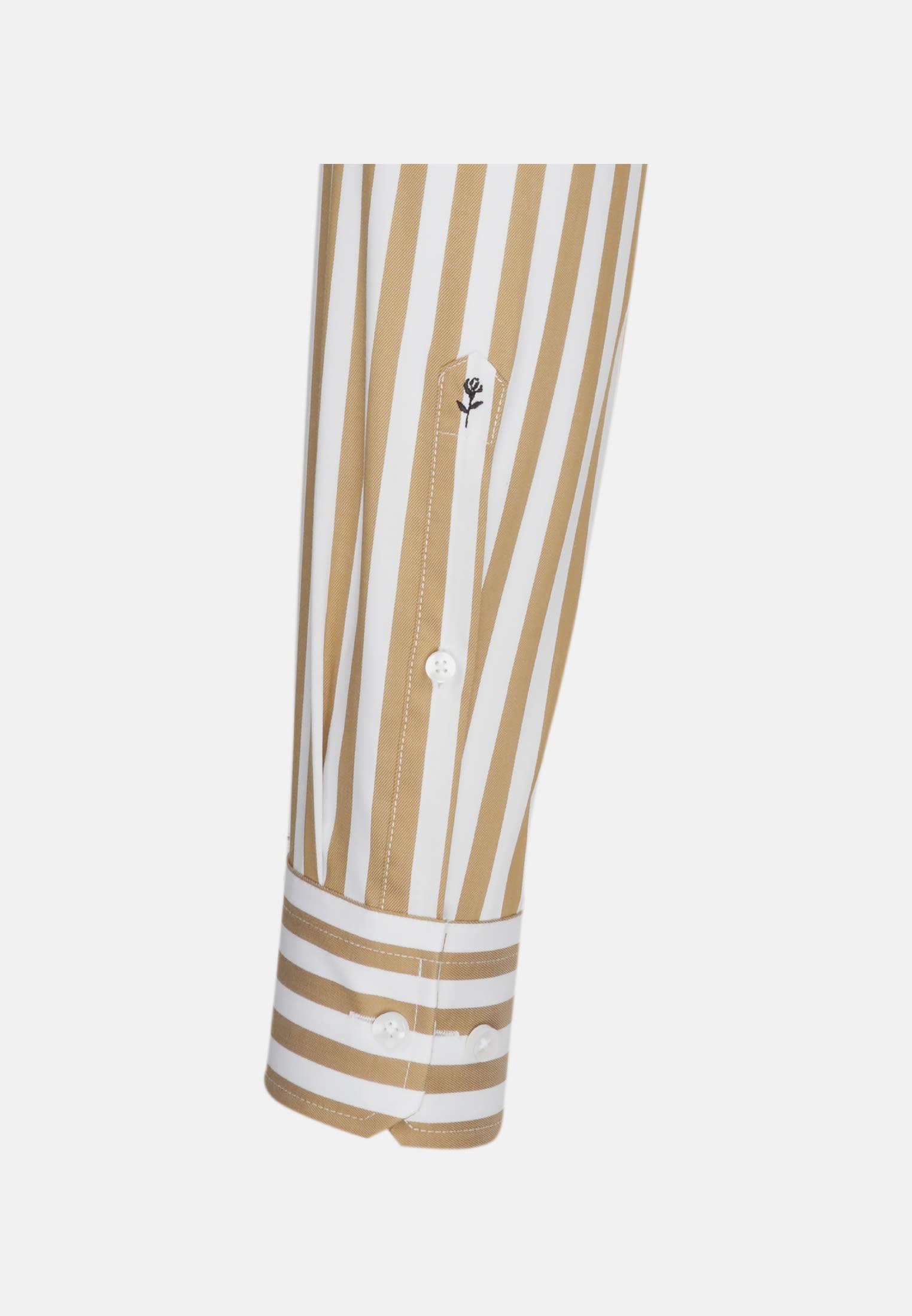 Non-iron Twill Business Shirt in Slim with Kent-Collar in Brown |  Seidensticker Onlineshop