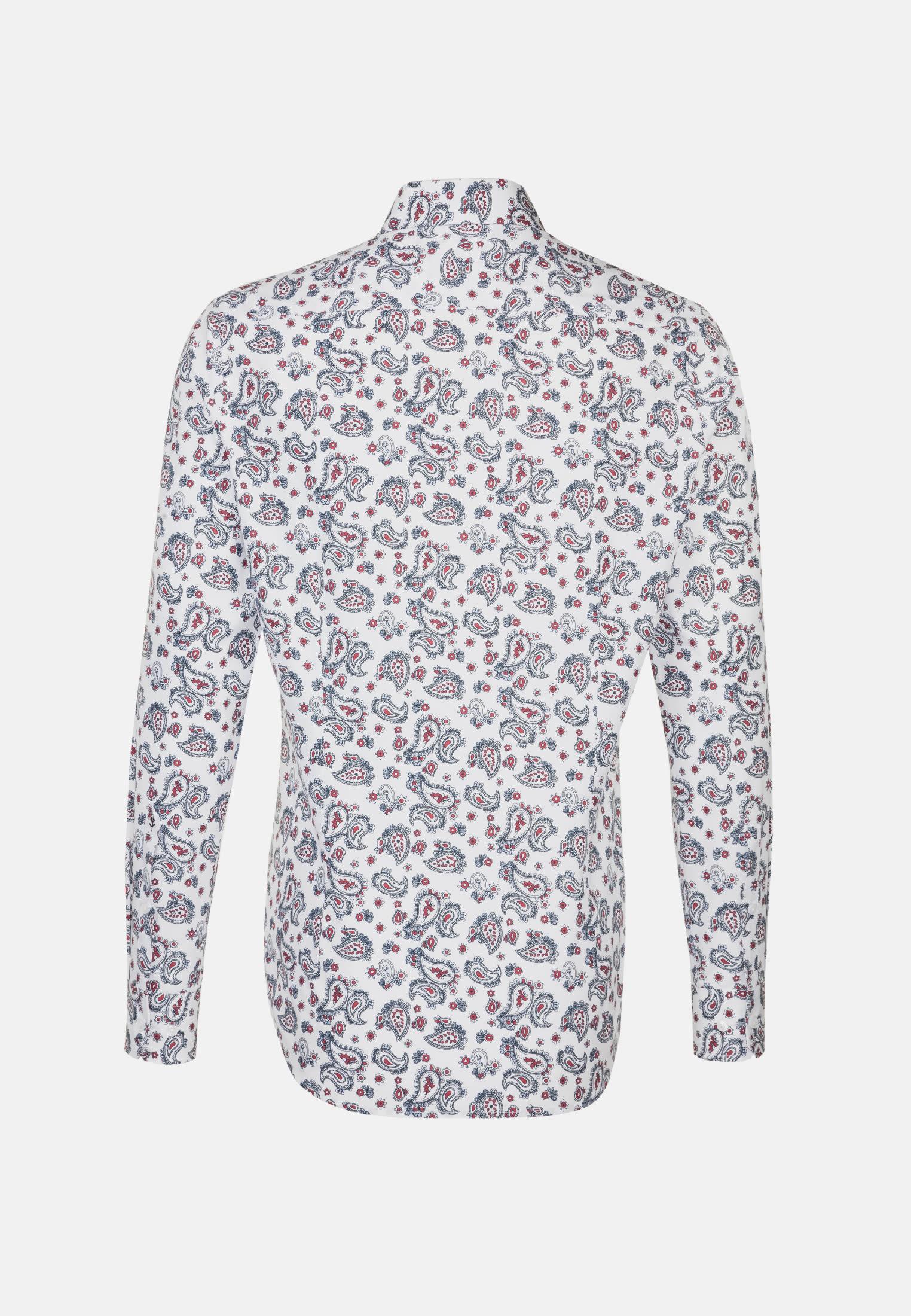 Bügelleichtes Popeline Business Hemd in Shaped mit Covered-Button-Down-Kragen in Rosa/Pink |  Seidensticker Onlineshop