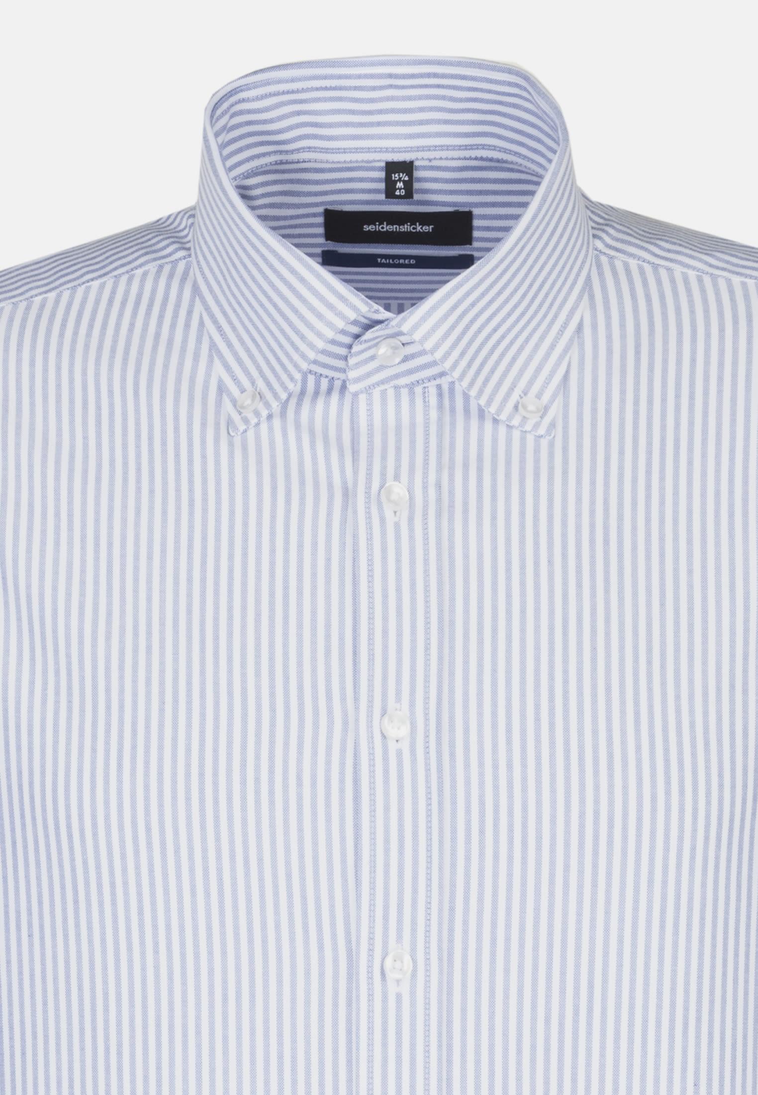 Easy-iron Oxford Business Shirt in Tailored with Button-Down-Collar in blau    Seidensticker Onlineshop
