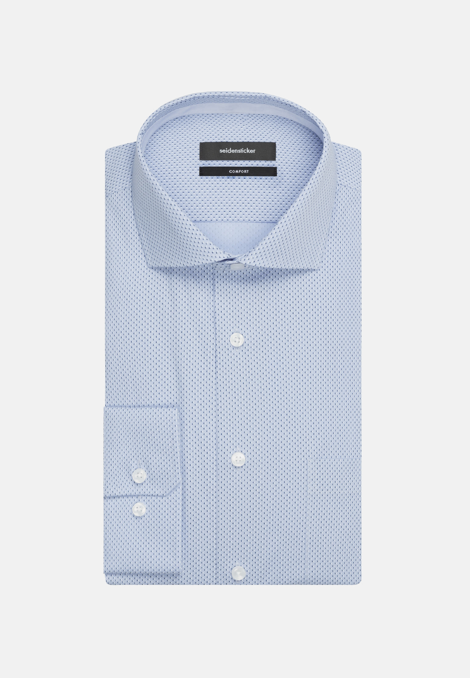 Easy-iron Poplin Business Shirt in Comfort with Kent-Collar in Light blue |  Seidensticker Onlineshop