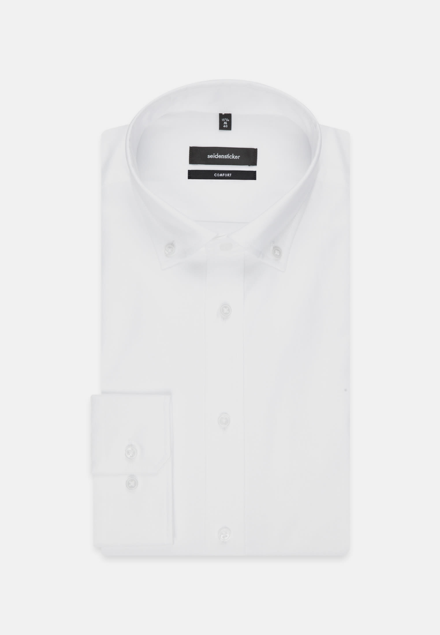Easy-iron Oxford Business Shirt in Comfort with Button-Down-Collar in White |  Seidensticker Onlineshop