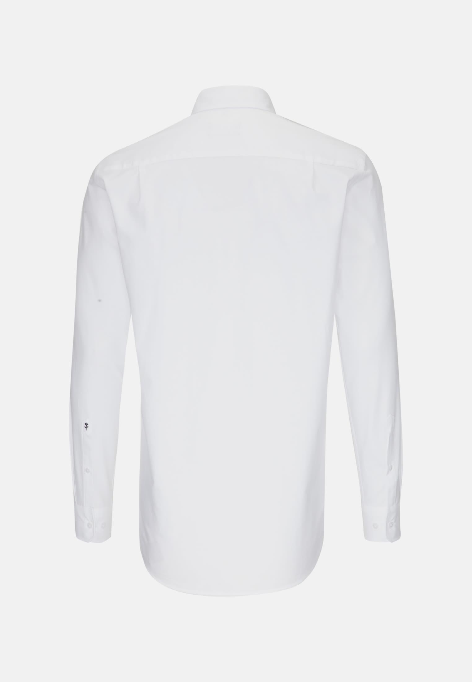 Easy-iron Oxford Business Shirt in Comfort with Button-Down-Collar in White    Seidensticker Onlineshop